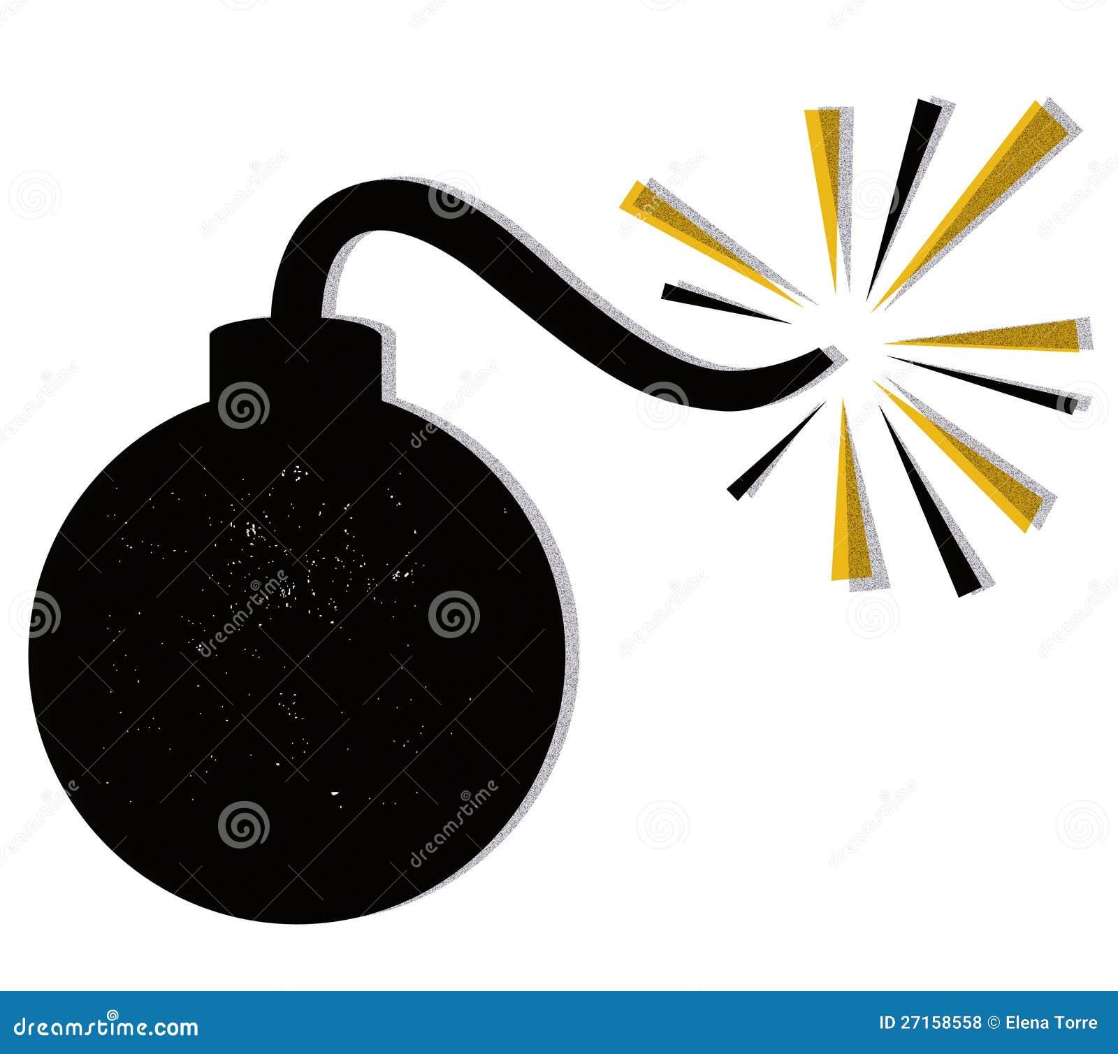 De vector van de bom