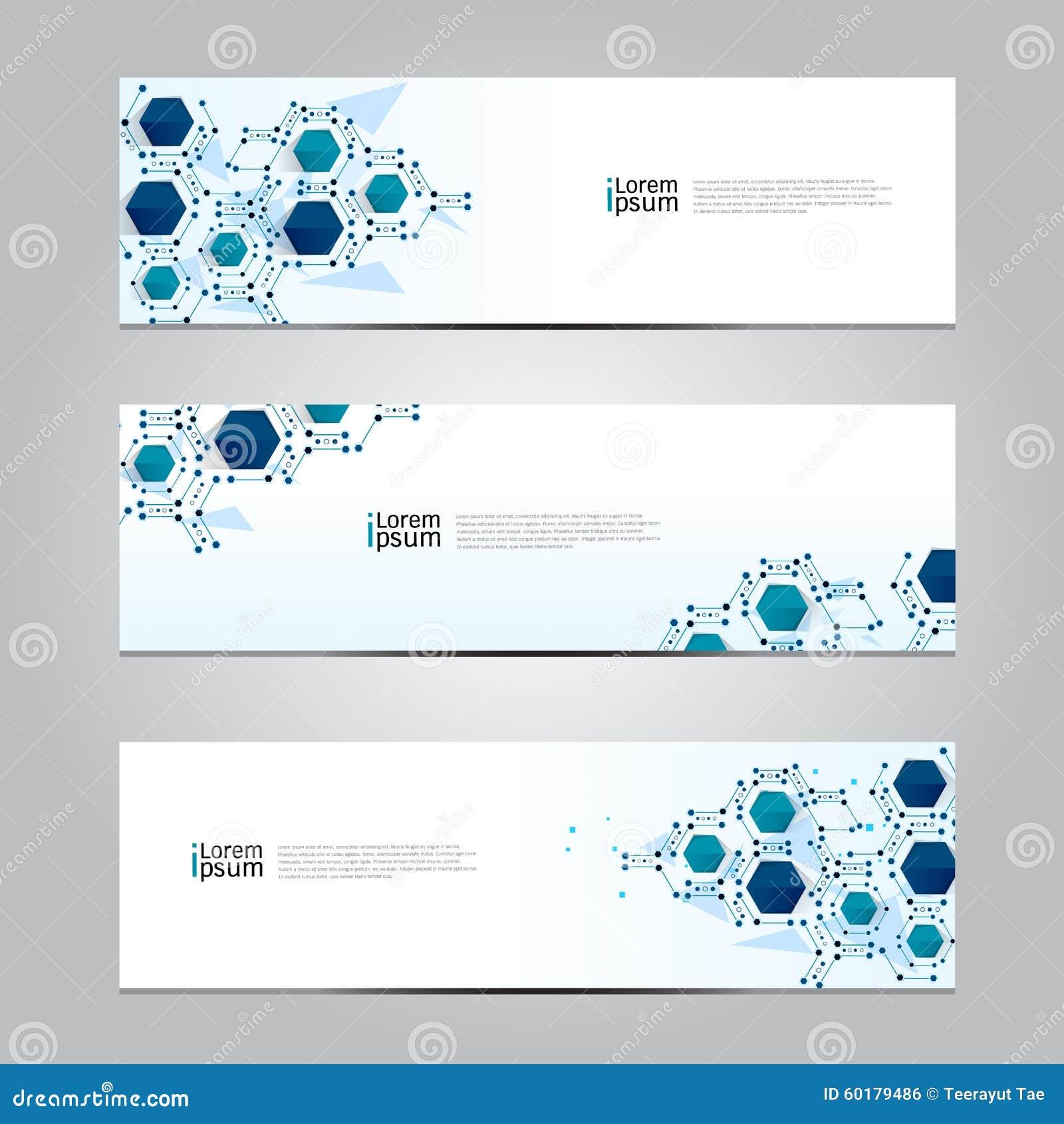 De vector van de het netwerktechnologie van de ontwerpbanner medische achtergrond