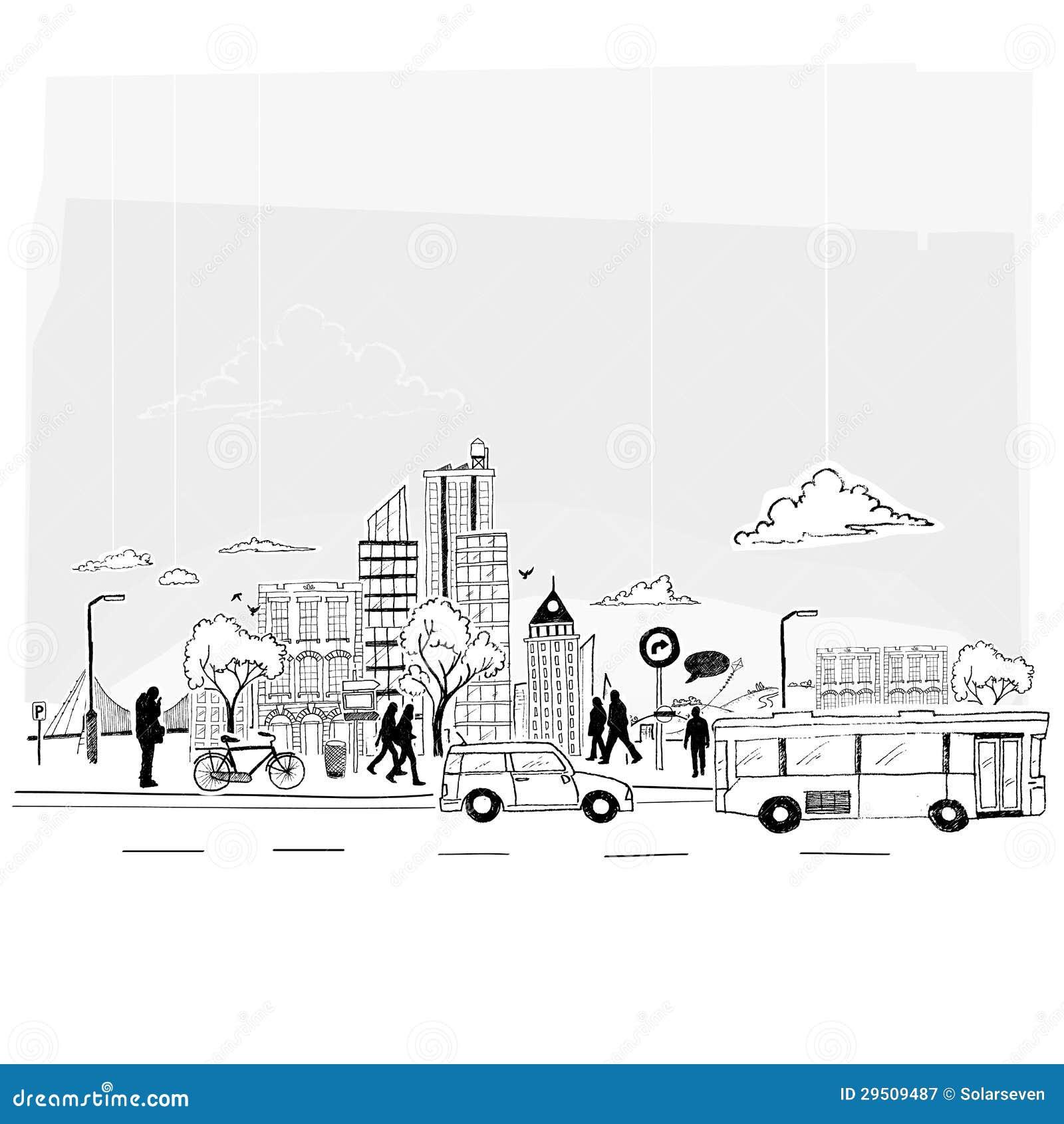 De Vector van de Stad van het document