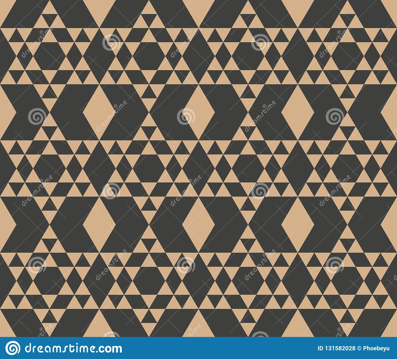 De vector van de van het achtergrond damast naadloze retro patroon controle van het de driehoeks dwarskader veelhoekmeetkunde Het