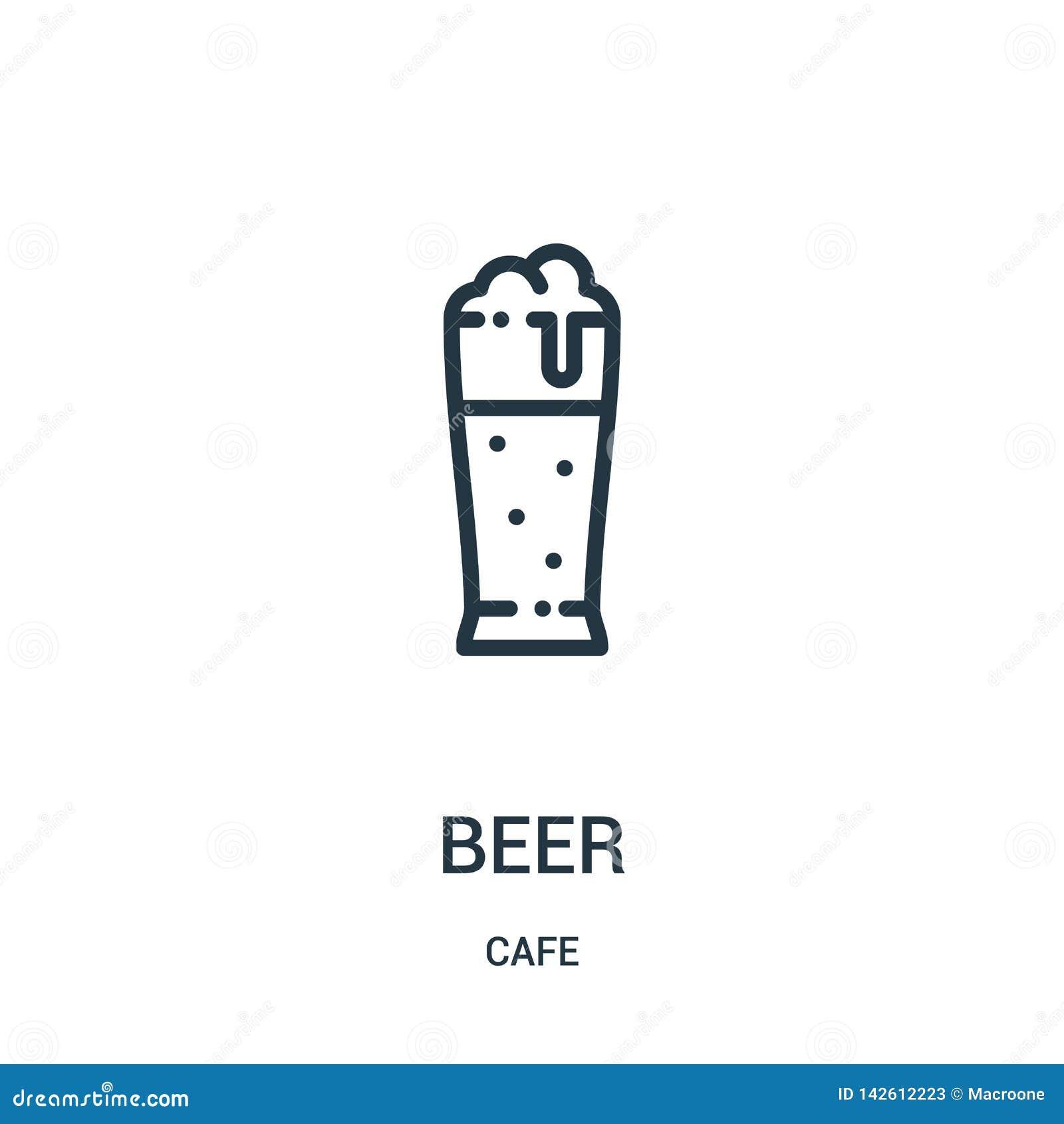 De vector van het bierpictogram van koffieinzameling De dunne van het het overzichtspictogram van het lijnbier vectorillustratie