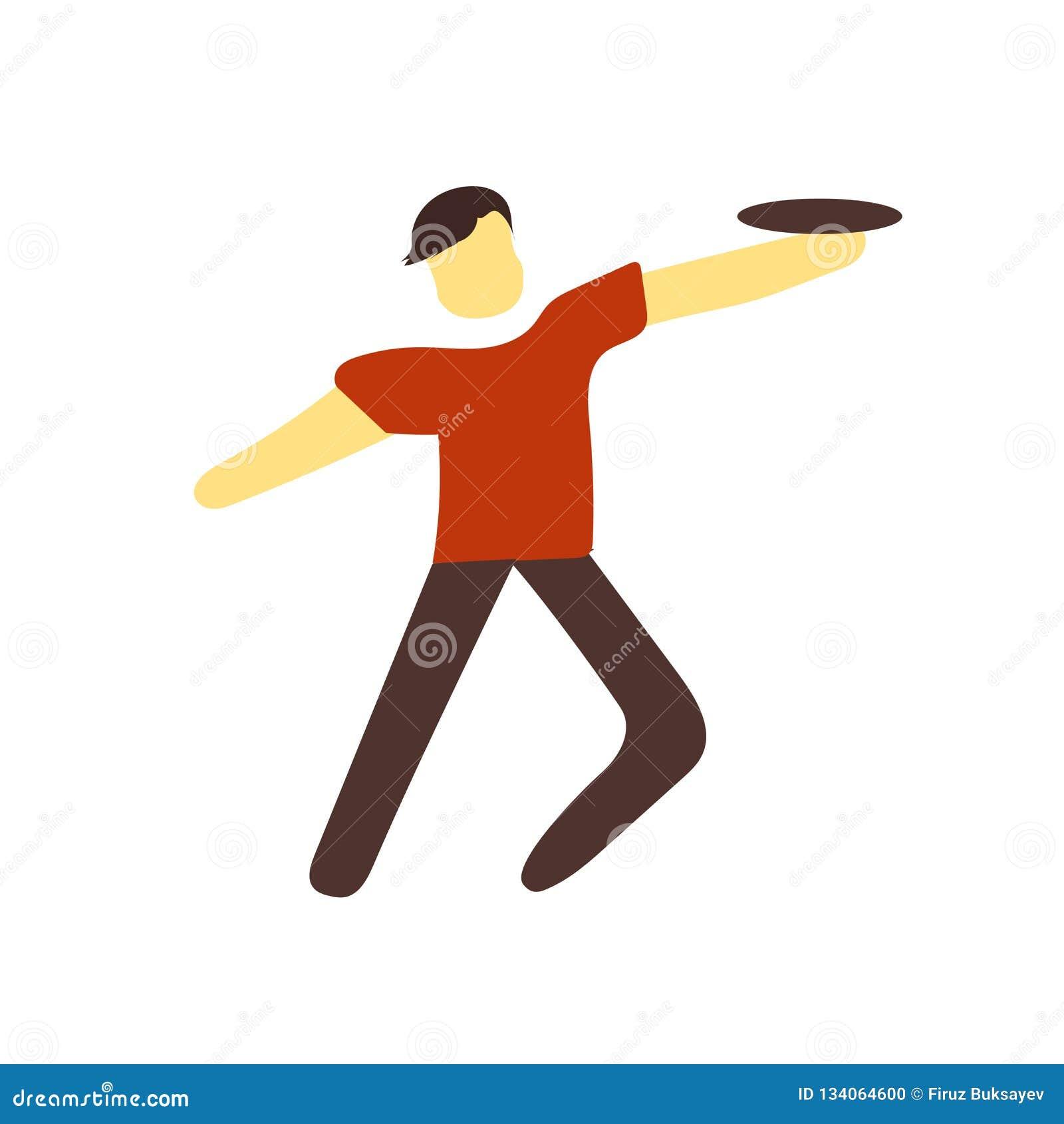 De vector van het Frisbeepictogram op witte achtergrond, Frisbee-teken wordt geïsoleerd dat