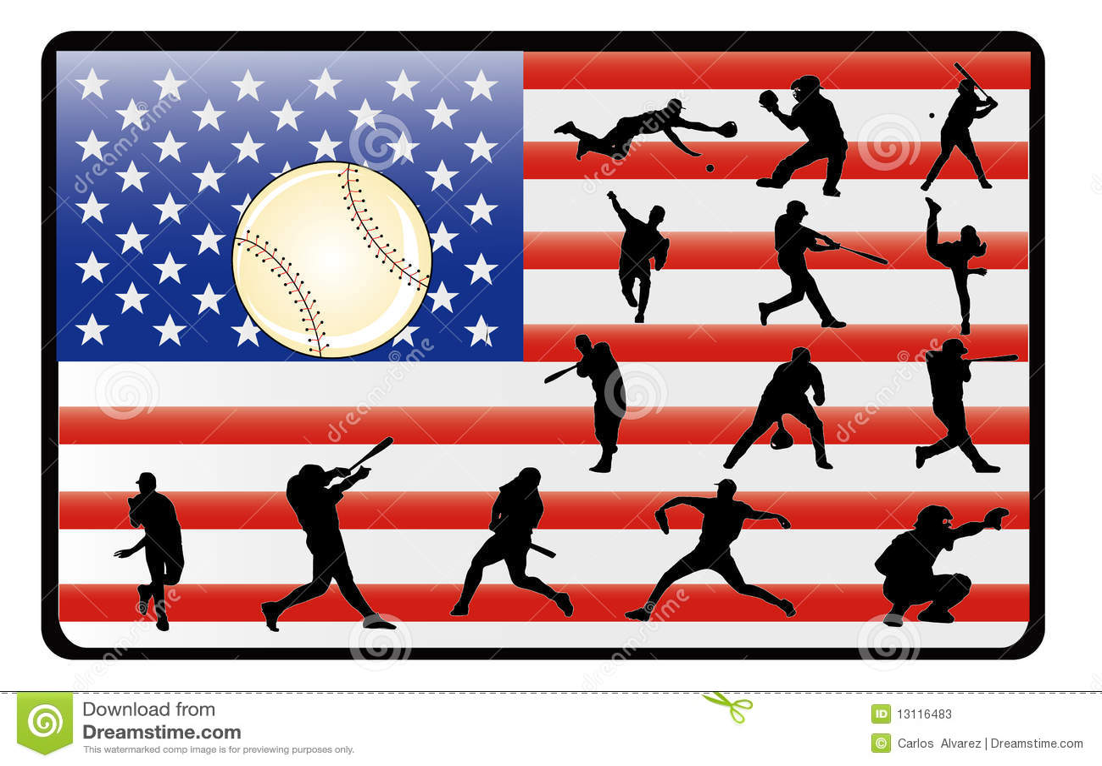De vector van het honkbal