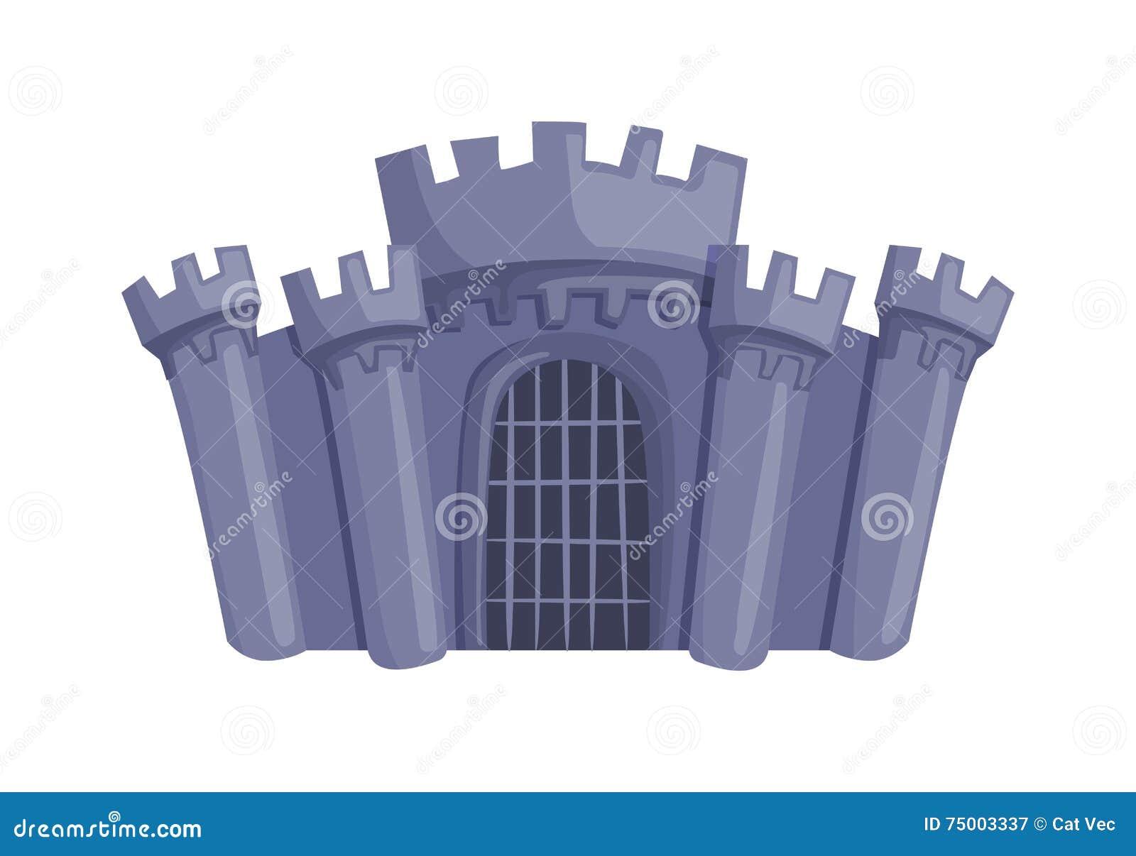 De vector van het kasteelbeeldverhaal