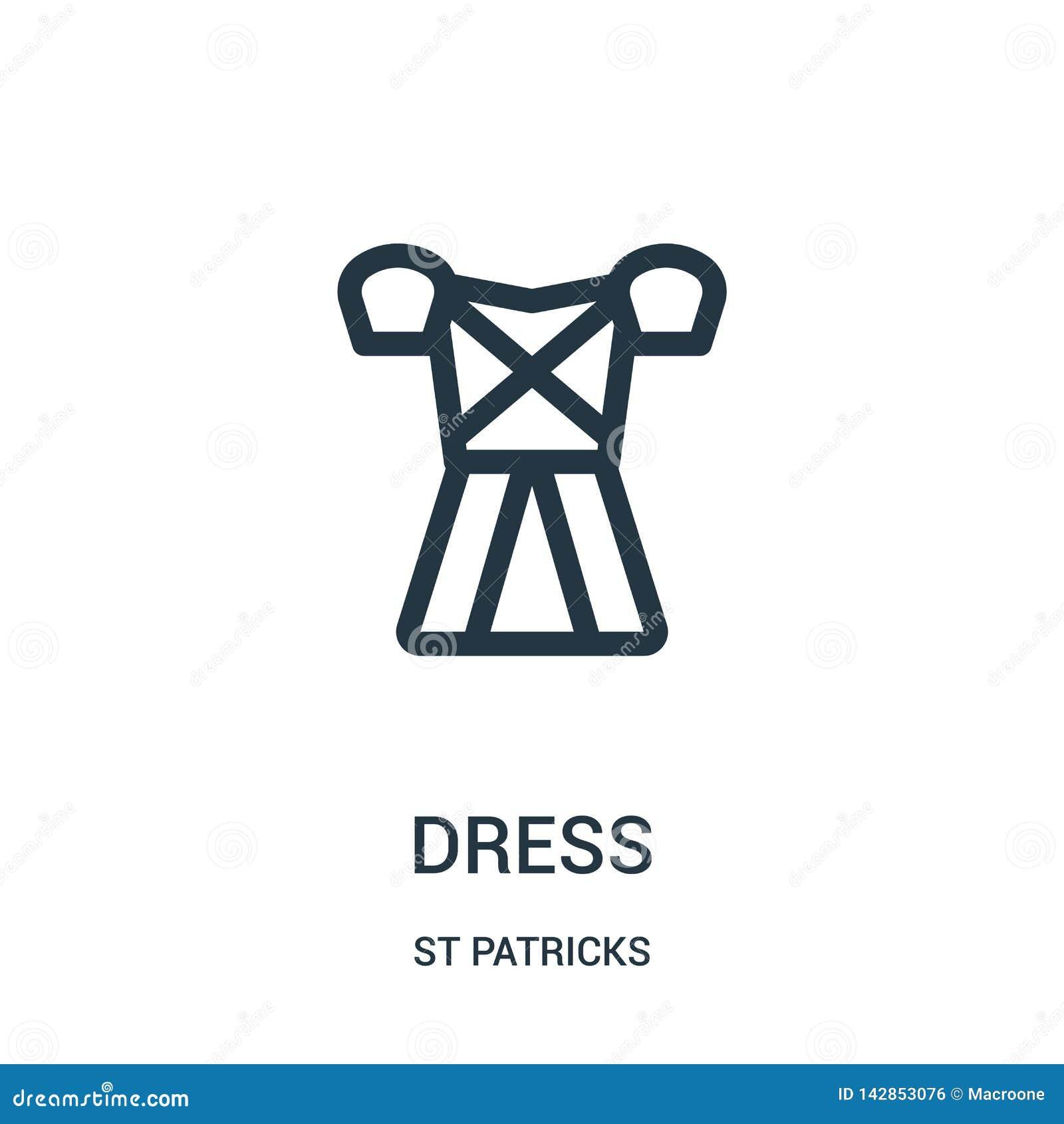 De vector van het kledingspictogram van st patricks inzameling De dunne van het het overzichtspictogram van de lijnkleding vector