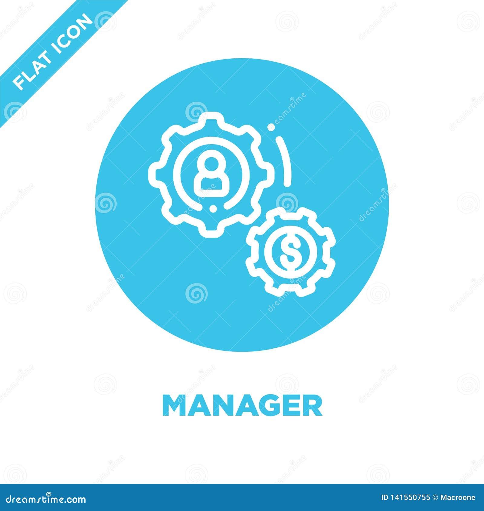 De vector van het managerpictogram Dunne het pictogram vectorillustratie van het superieuroverzicht managersymbool voor gebruik o
