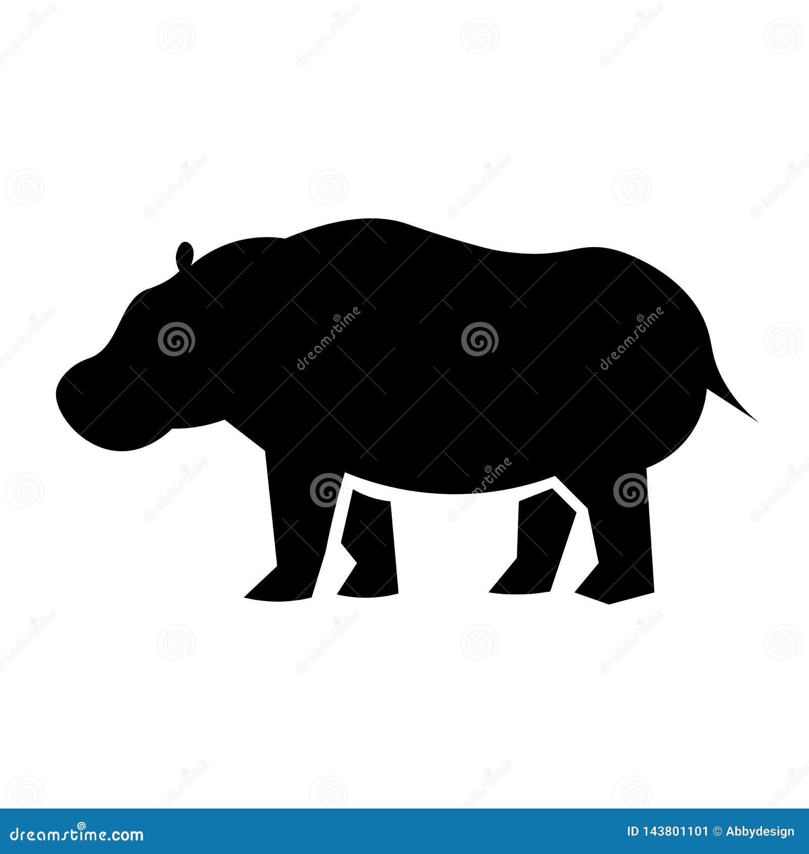De Vector van het nijlpaardpictogram