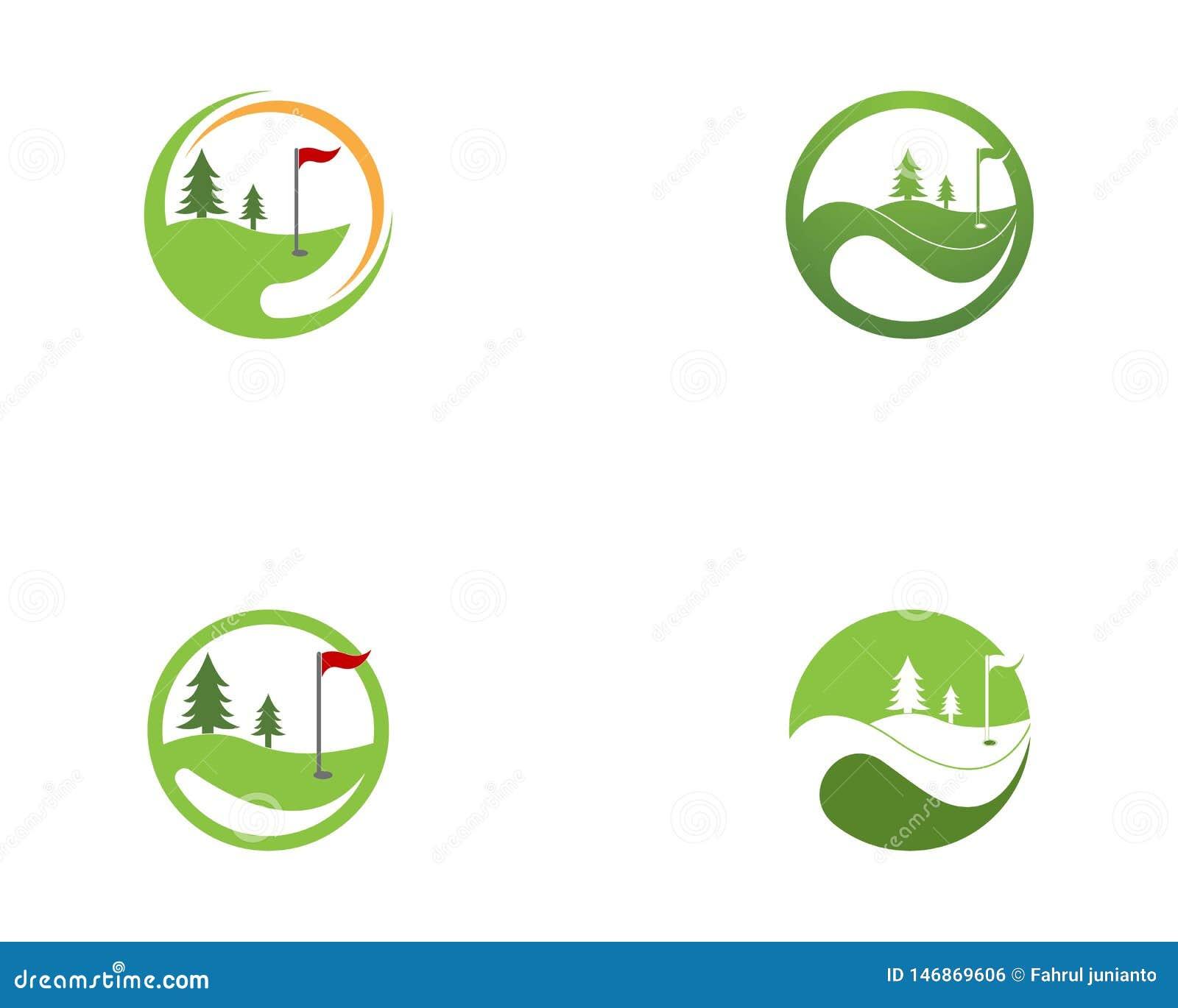 De vector van het het pictogramembleem van het golfgebied