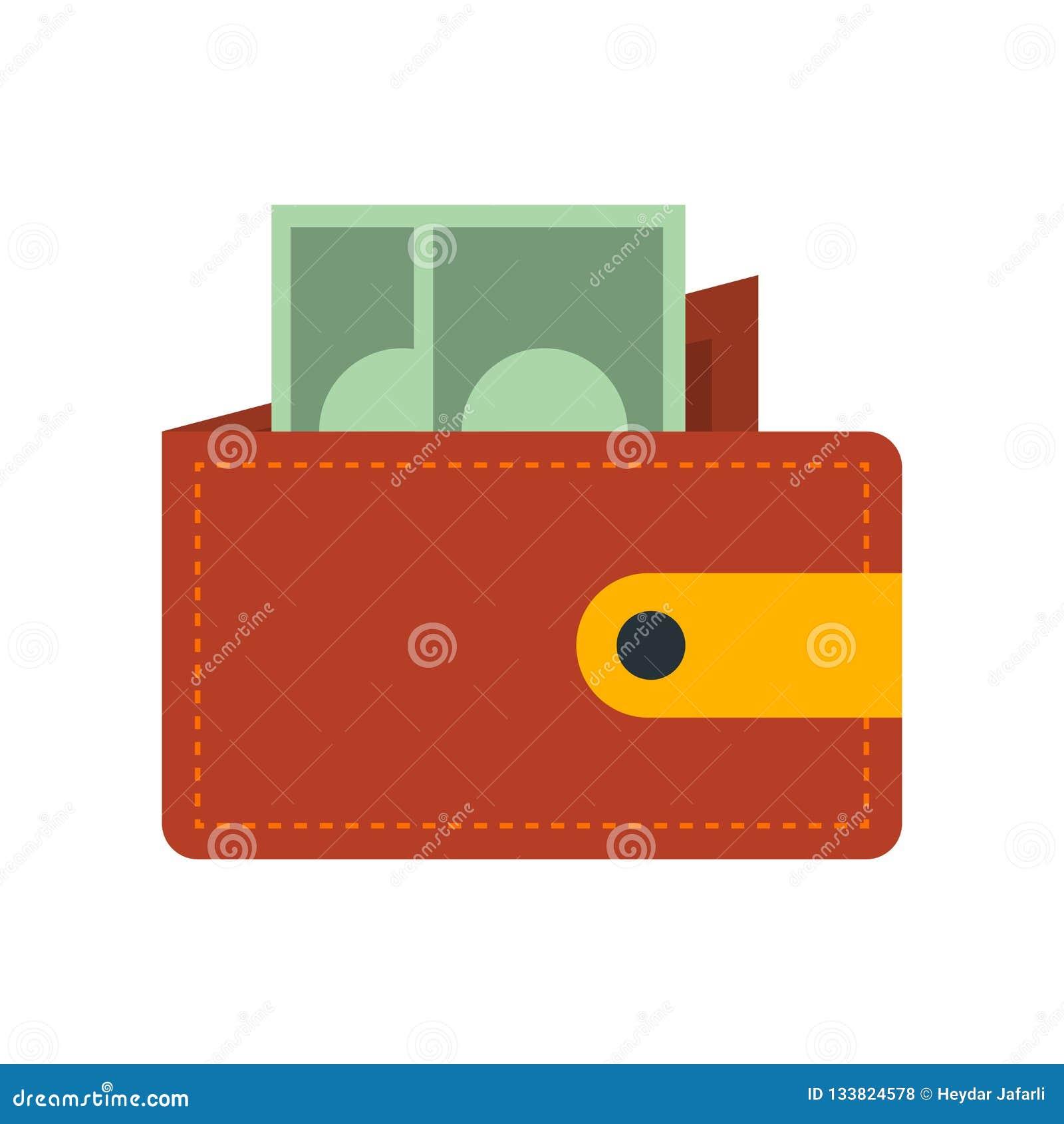 De vector van het portefeuillepictogram op witte achtergrond, Portefeuilleteken wordt geïsoleerd dat