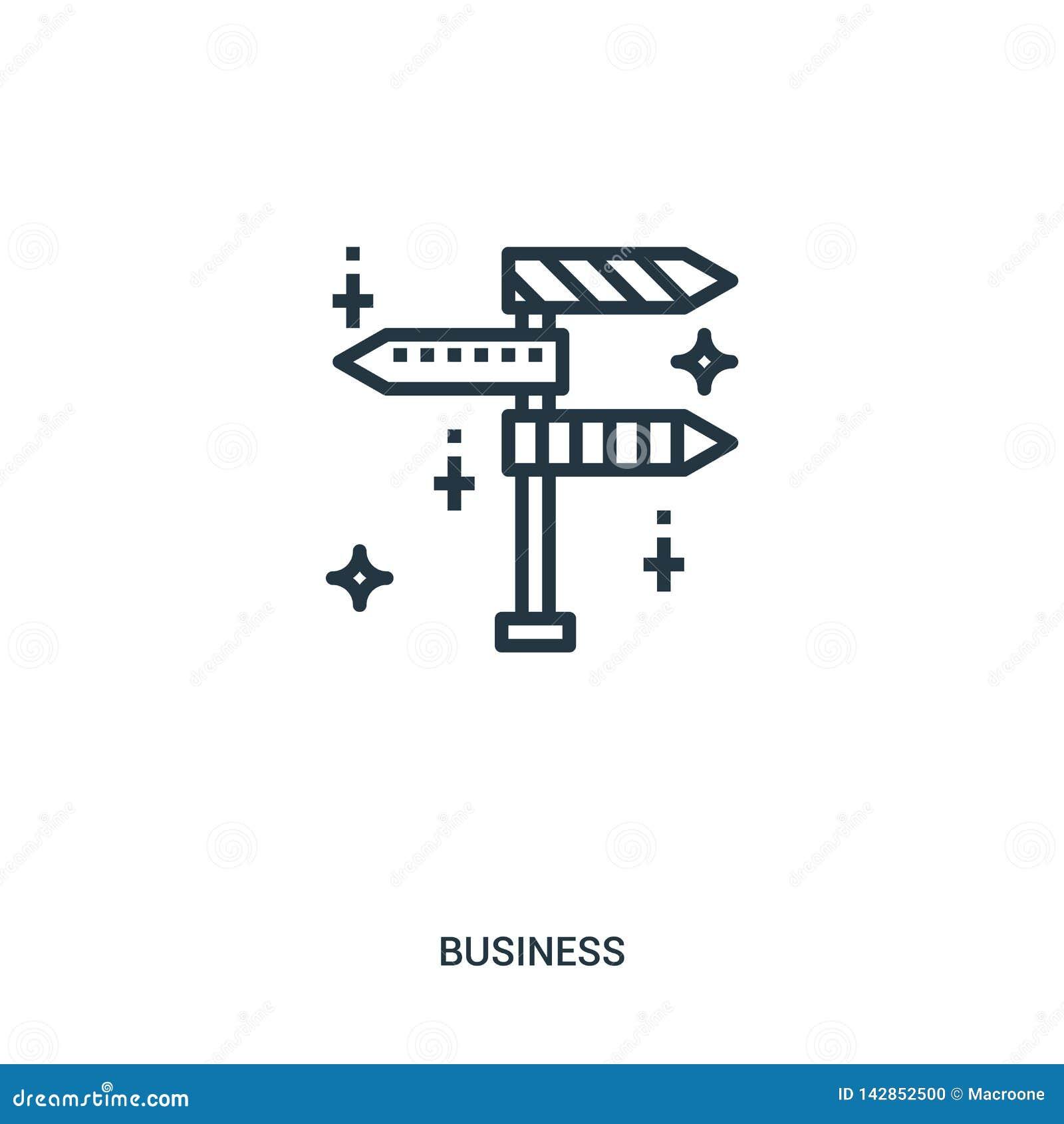 De vector van het tekenspictogram van bedrijfsinzameling De dunne van het het overzichtspictogram van lijntekens vectorillustrati