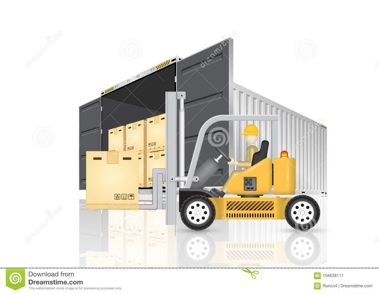 Download De Vector Van De Ladingscontainer Vector Illustratie - Illustratie bestaande uit export, vracht: 104638111
