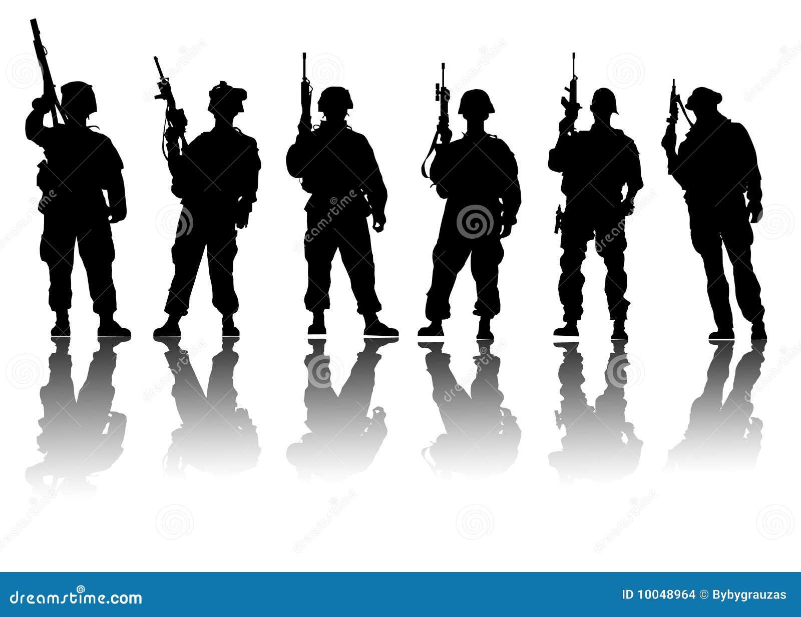 De vector van militairen
