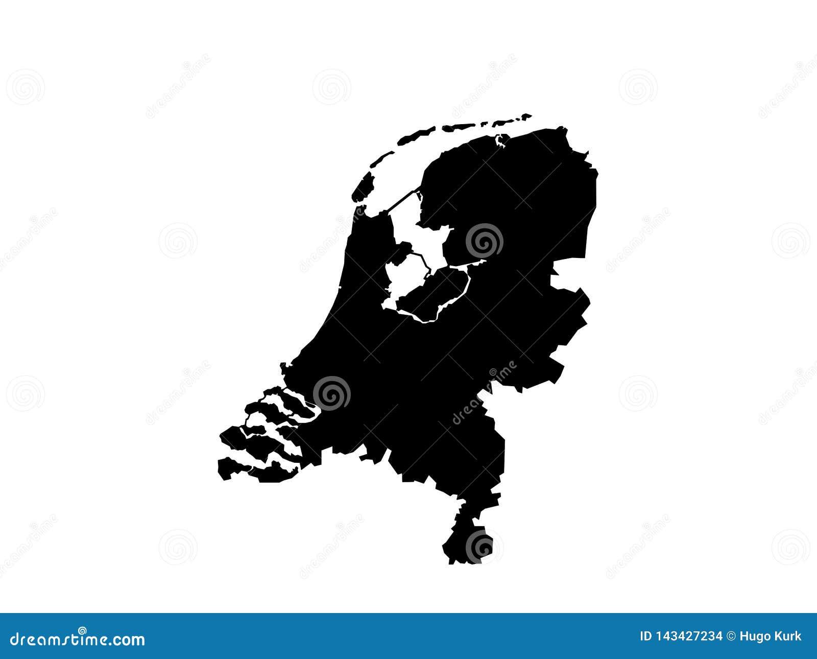 De vector van de Nederlandkaart