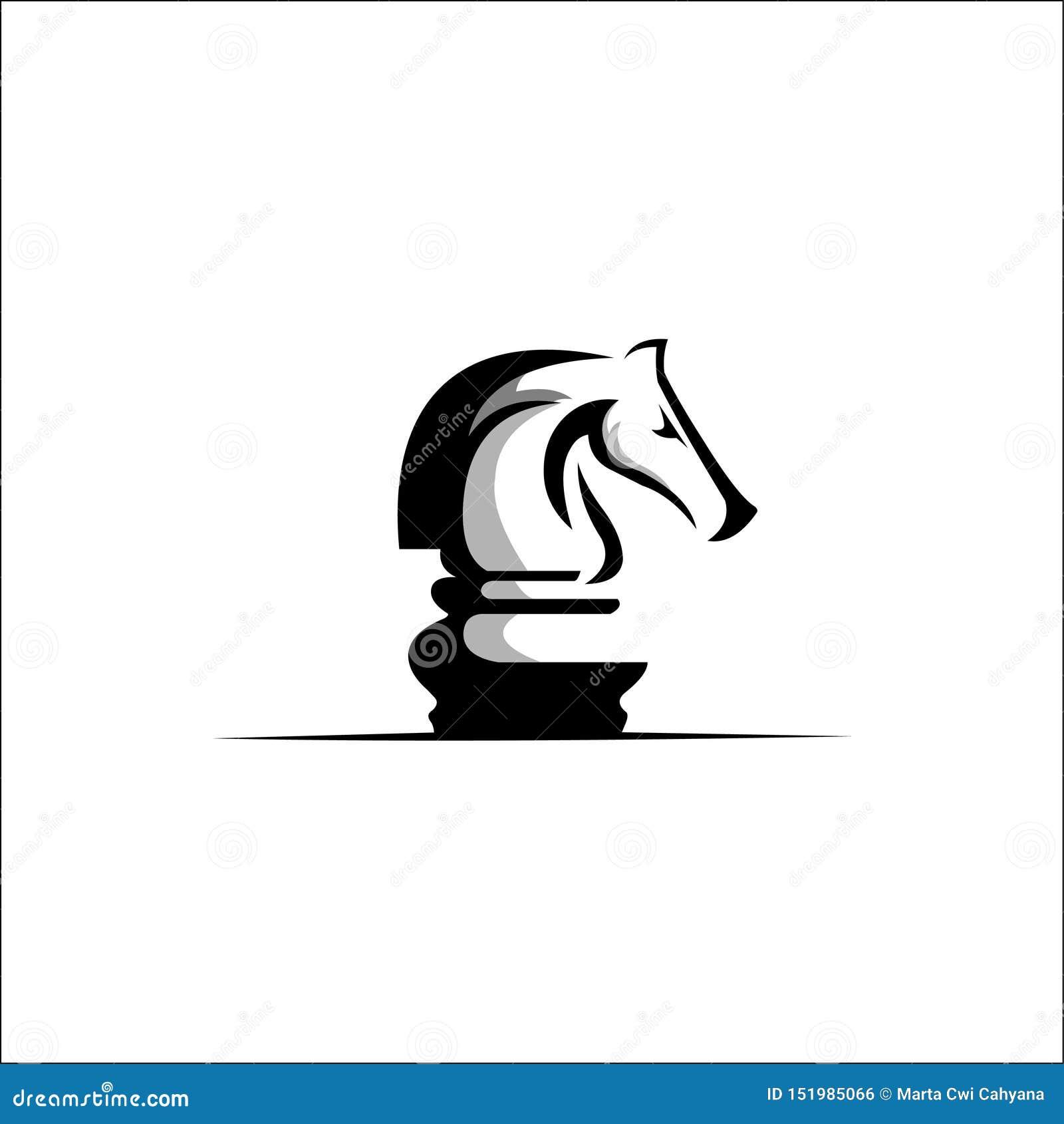 De vector van schaaklogo design
