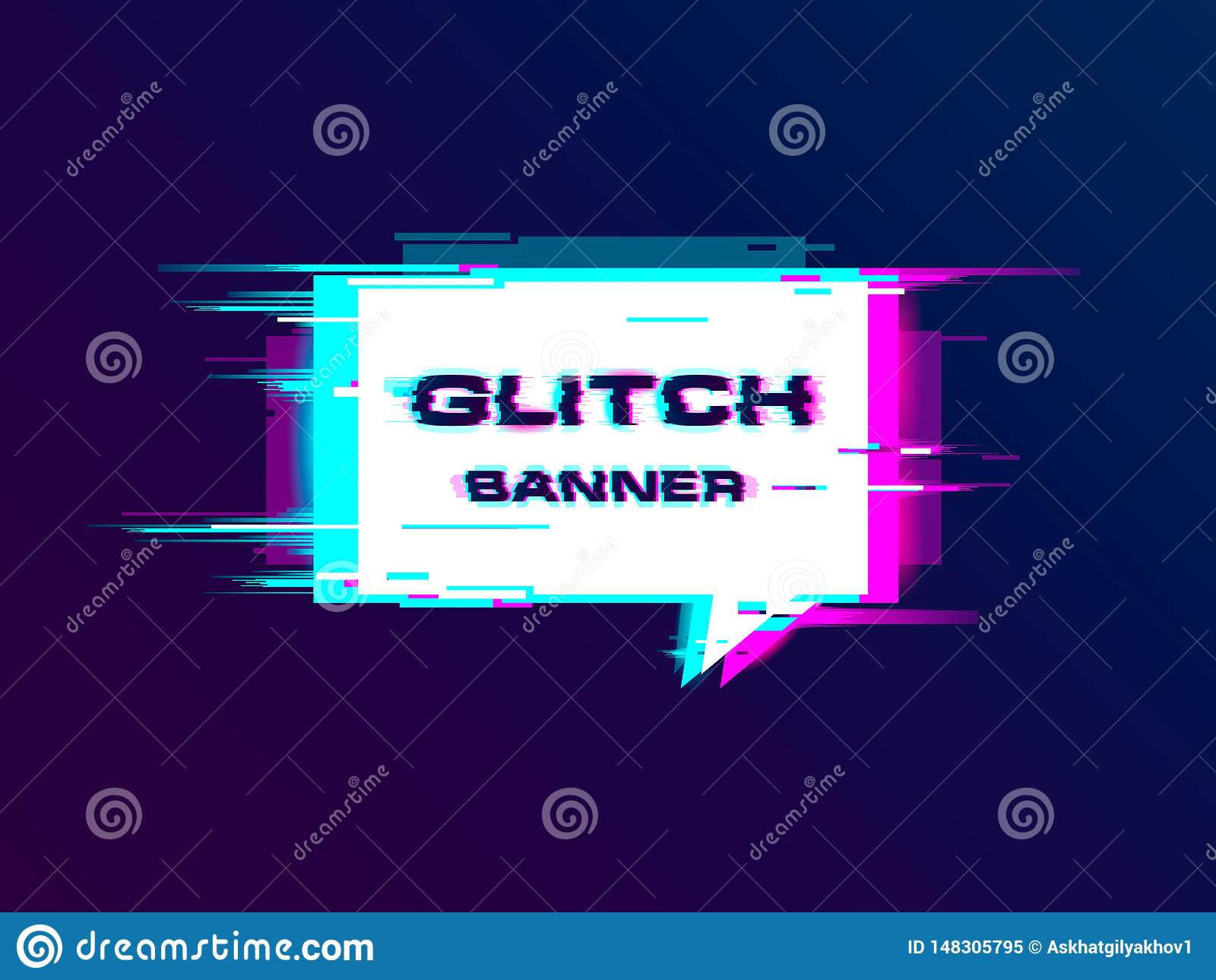 De vector vervormde glitch banner van de stijlbevordering, affiche