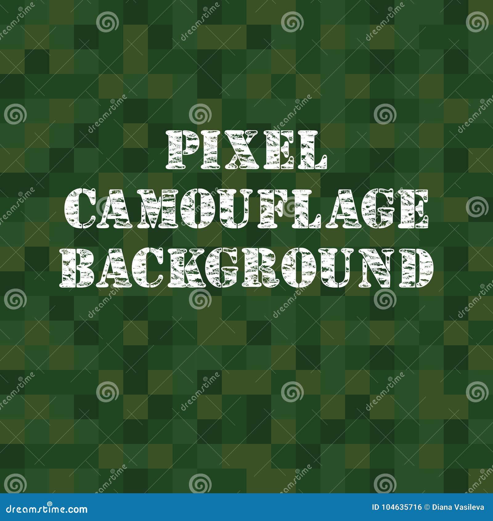 Download De Vectorachtergrond Van De Pixelcamouflage Vector Illustratie - Illustratie bestaande uit samenvatting, zwart: 104635716