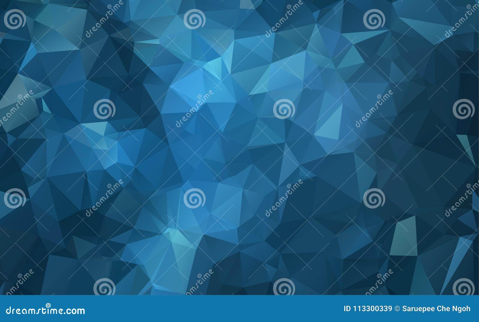 De vectorachtergrond van de Veelhoek Abstracte moderne Veelhoekige Geometrische Driehoek Donkerblauwe Geometrische Driehoeksachte