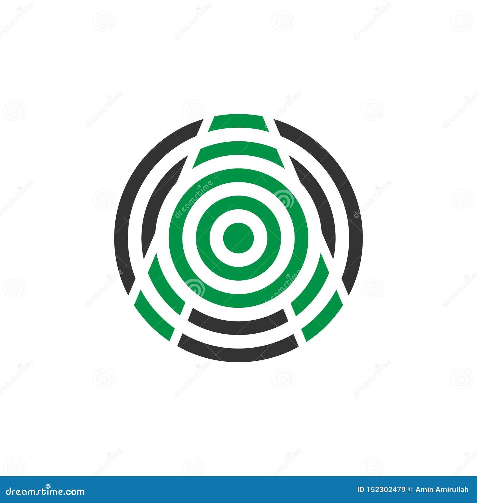 De vectorbrief van de illustratie abstracte mug een ontwerp van het pictogramembleem