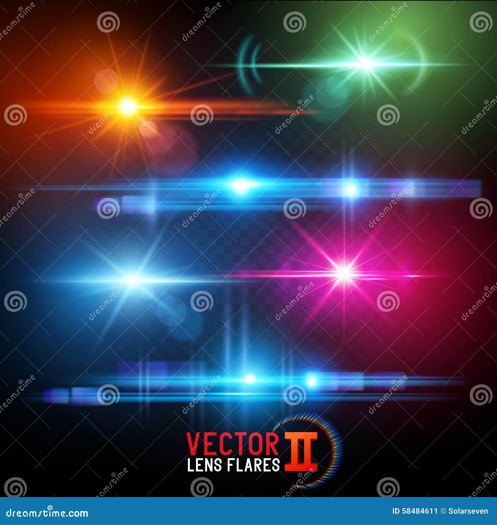 De vectorgevolgen van de Lensgloed