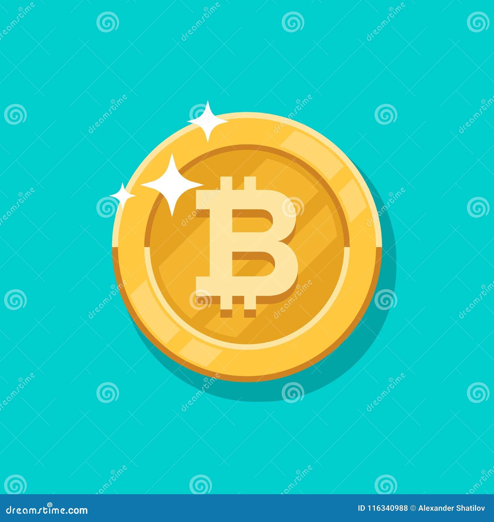 De vectorgroei bitcoin Voor een digitaal geld van Bitcoin, cryptocurrencysysteem Crypto symbool van het munt het gouden muntstuk