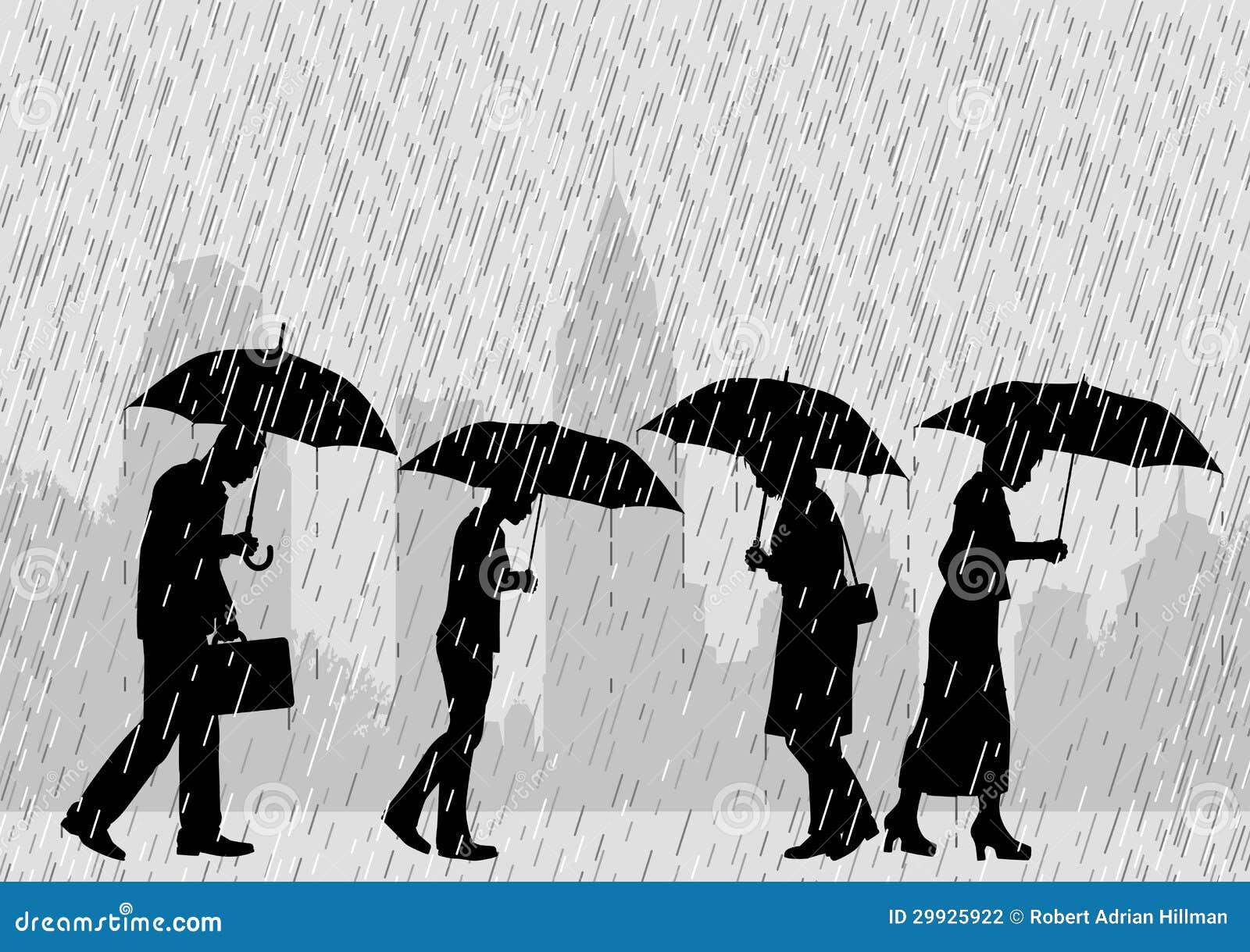 De mensen van de regen