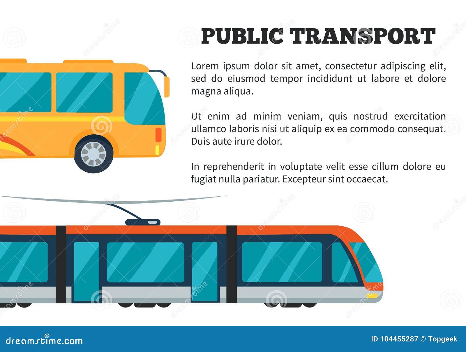 De Vectorillustratie van de openbaar Vervoeraffiche