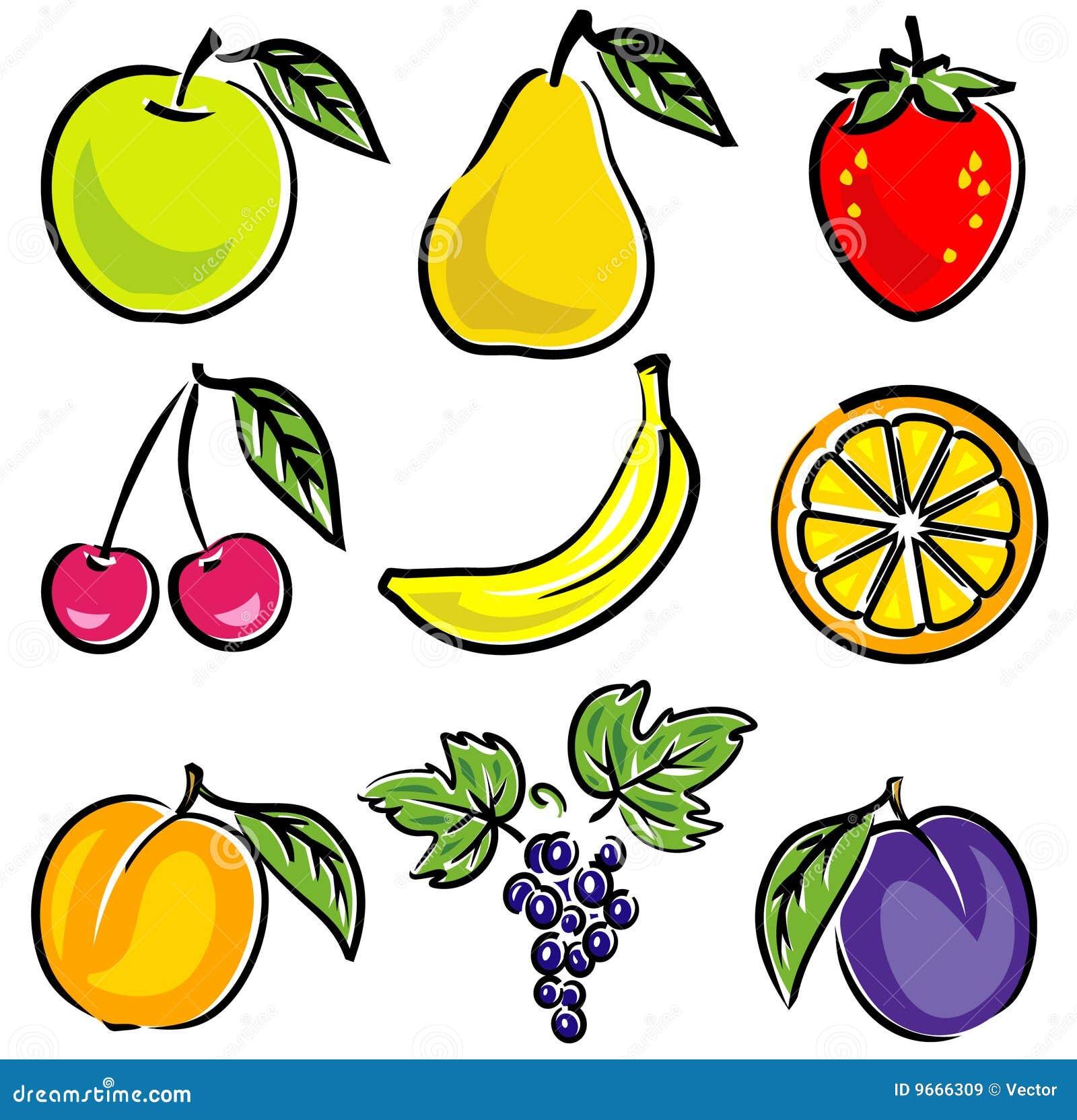 De VectorIllustratie van vruchten