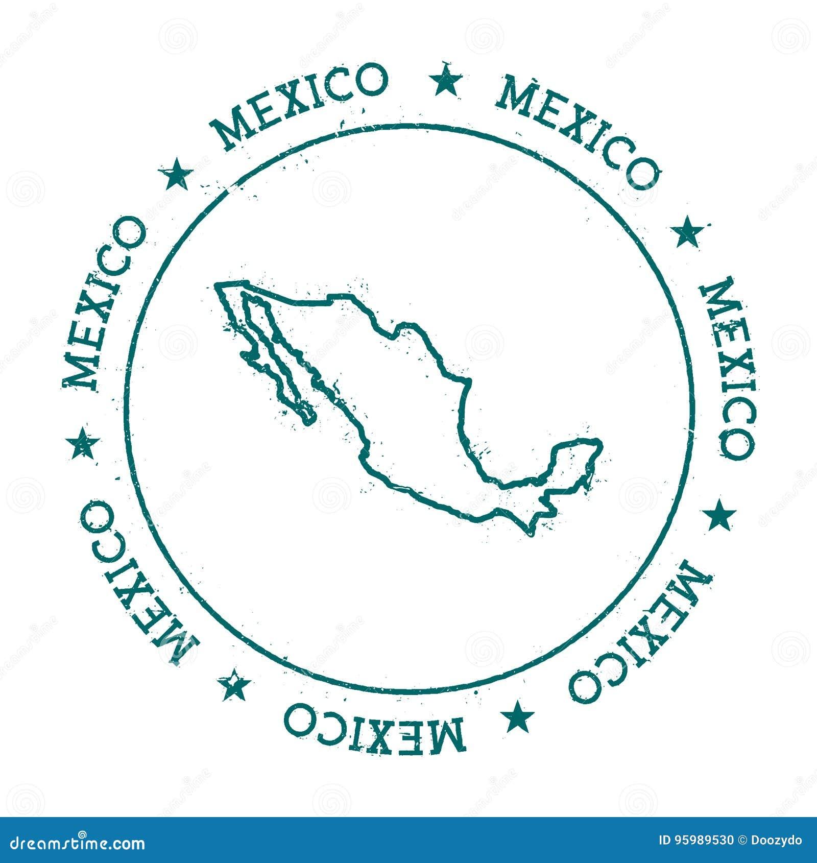 De vectorkaart van Mexico