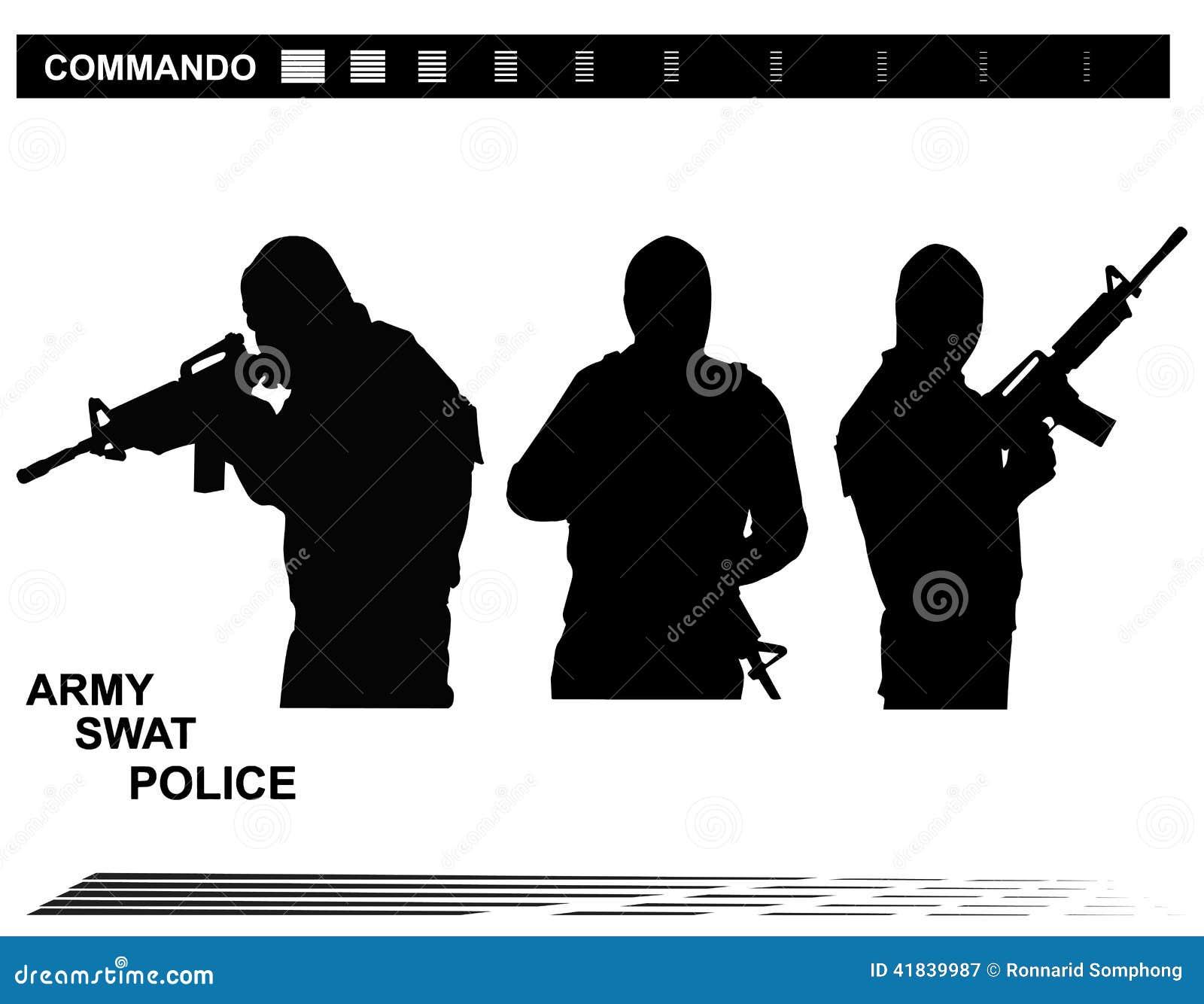 De vectormep Team Police van illustratie Speciale Krachten