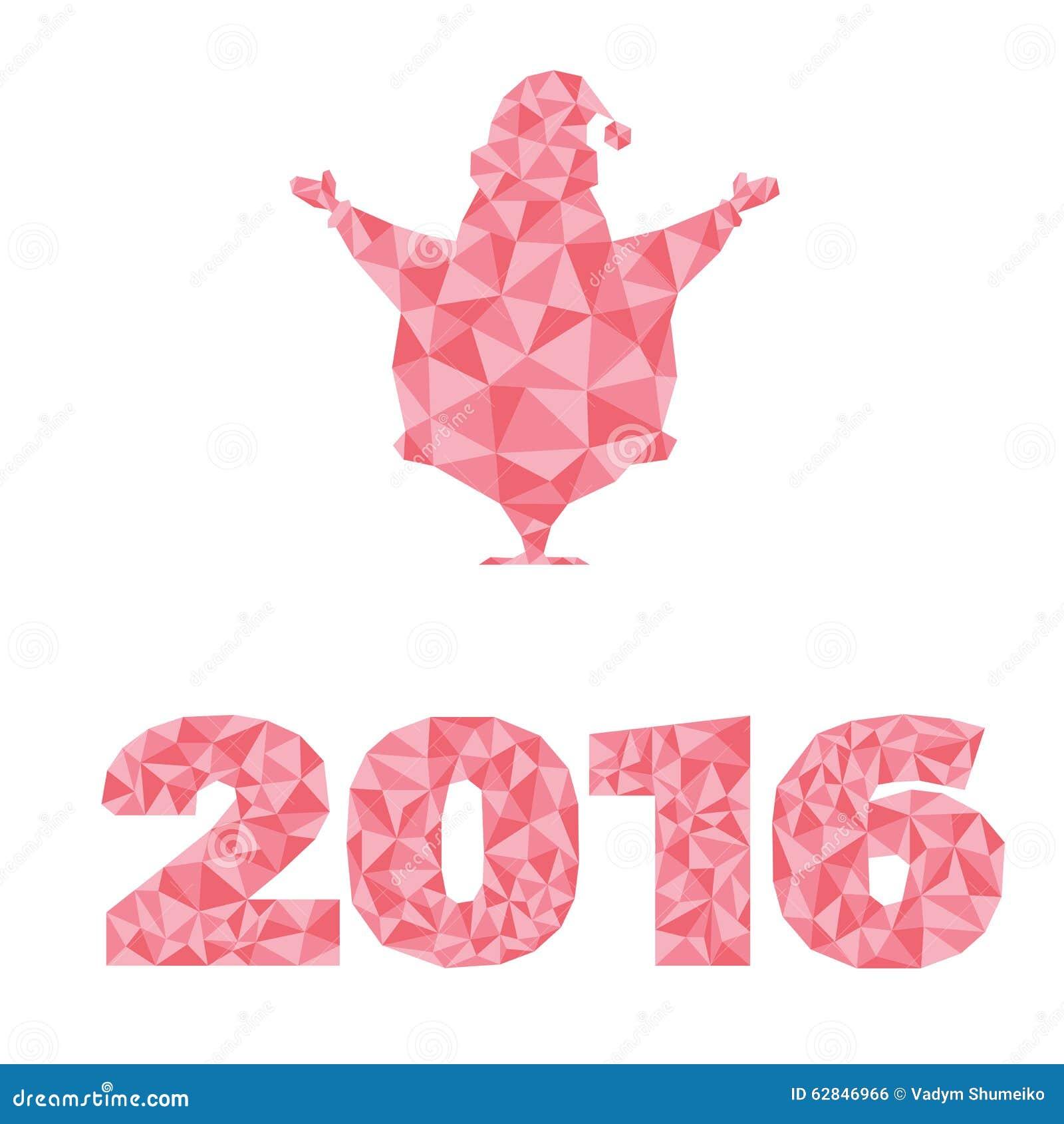 De vectorontwerpelementen silhouetteren santa claus decoratie van het aantal de nieuwe die jaar - Decoratie van toiletten ...
