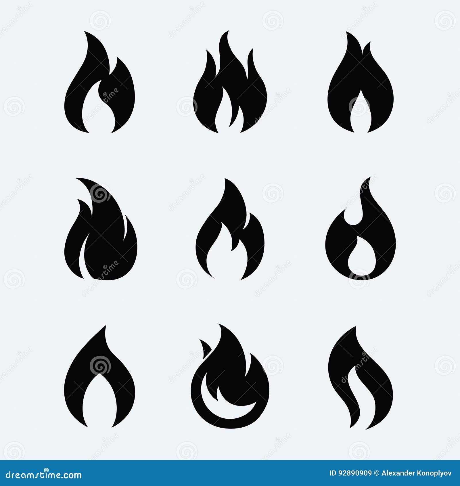 De vectorreeks van het brandpictogram