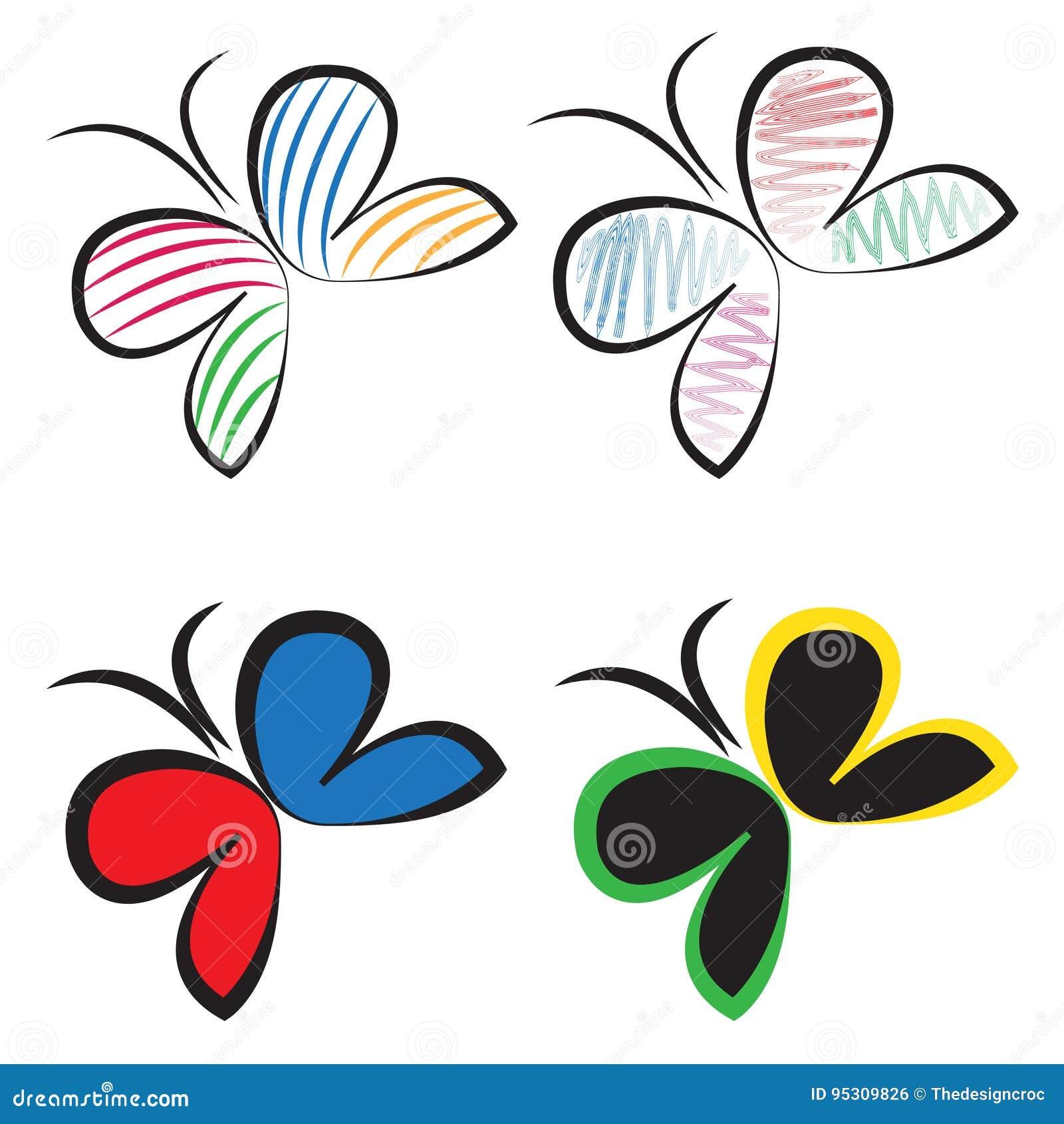 De vectorreeks van het vlinderembleem