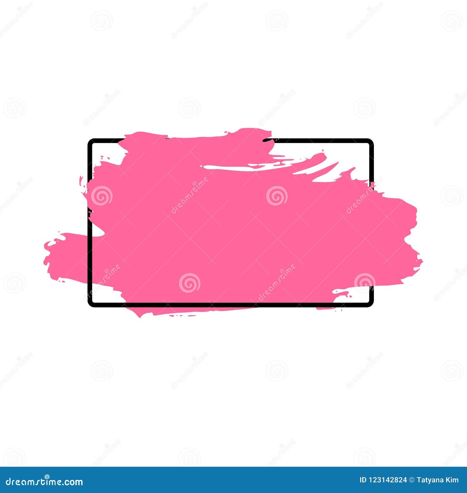 De vectorslag van de verfborstel, borstel, lijn of textuur Vuil artistiek ontwerpelement, vakje, kader of achtergrond voor tekst