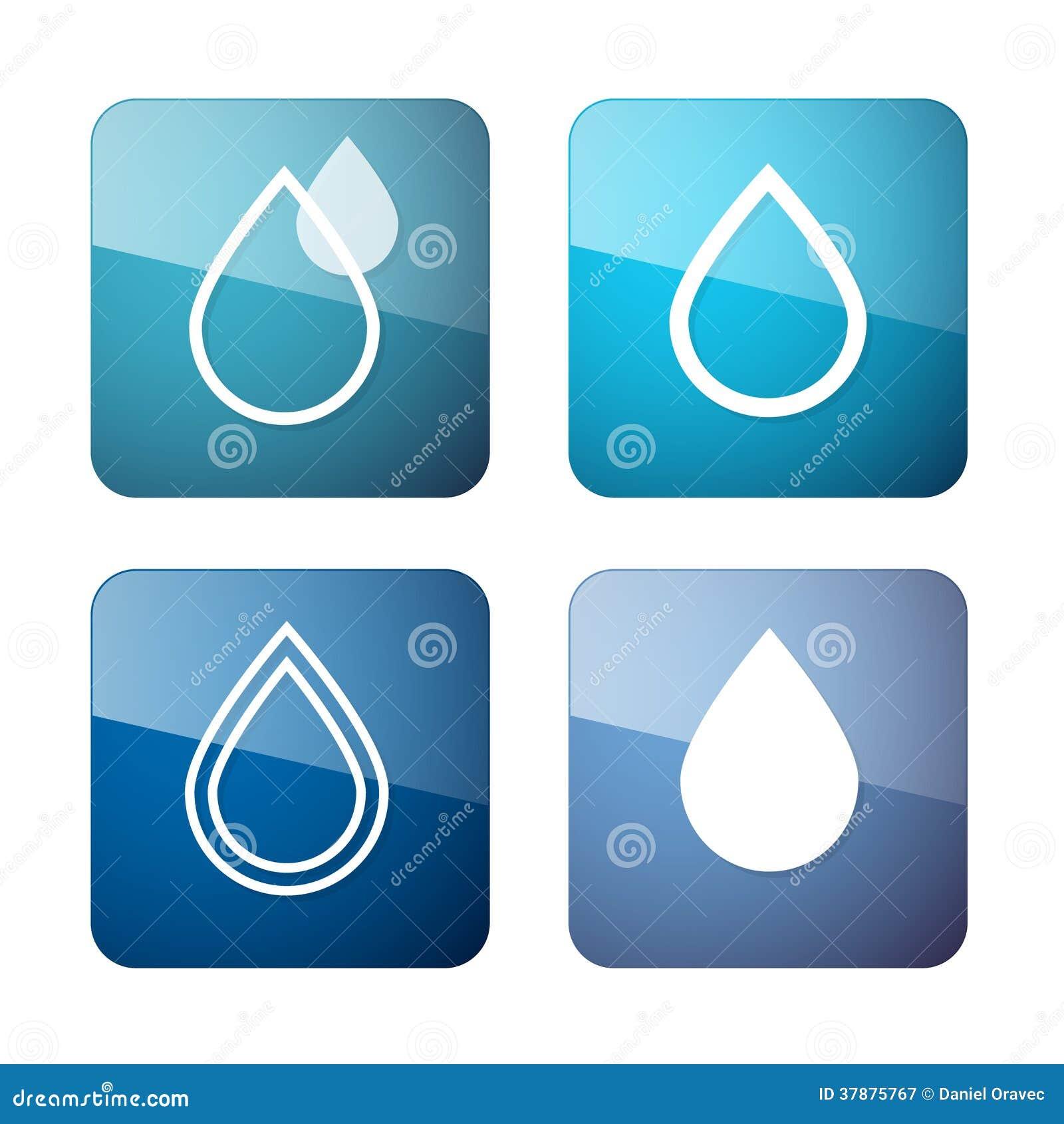 De vectorsymbolen van Waterdalingen - Geplaatste Pictogrammen