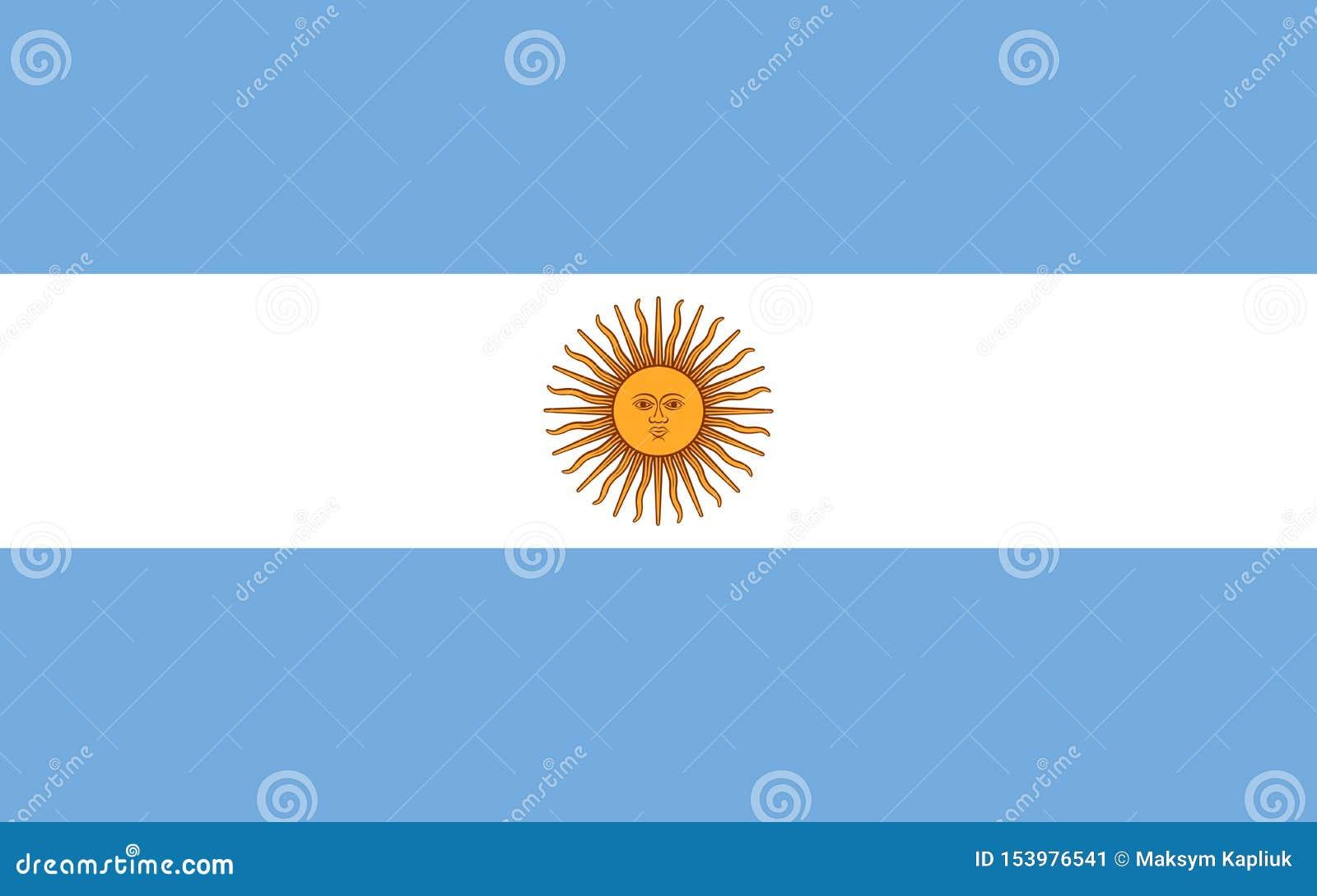 De vectorvlag van Argentinië Nationaal symbool van Argentinië