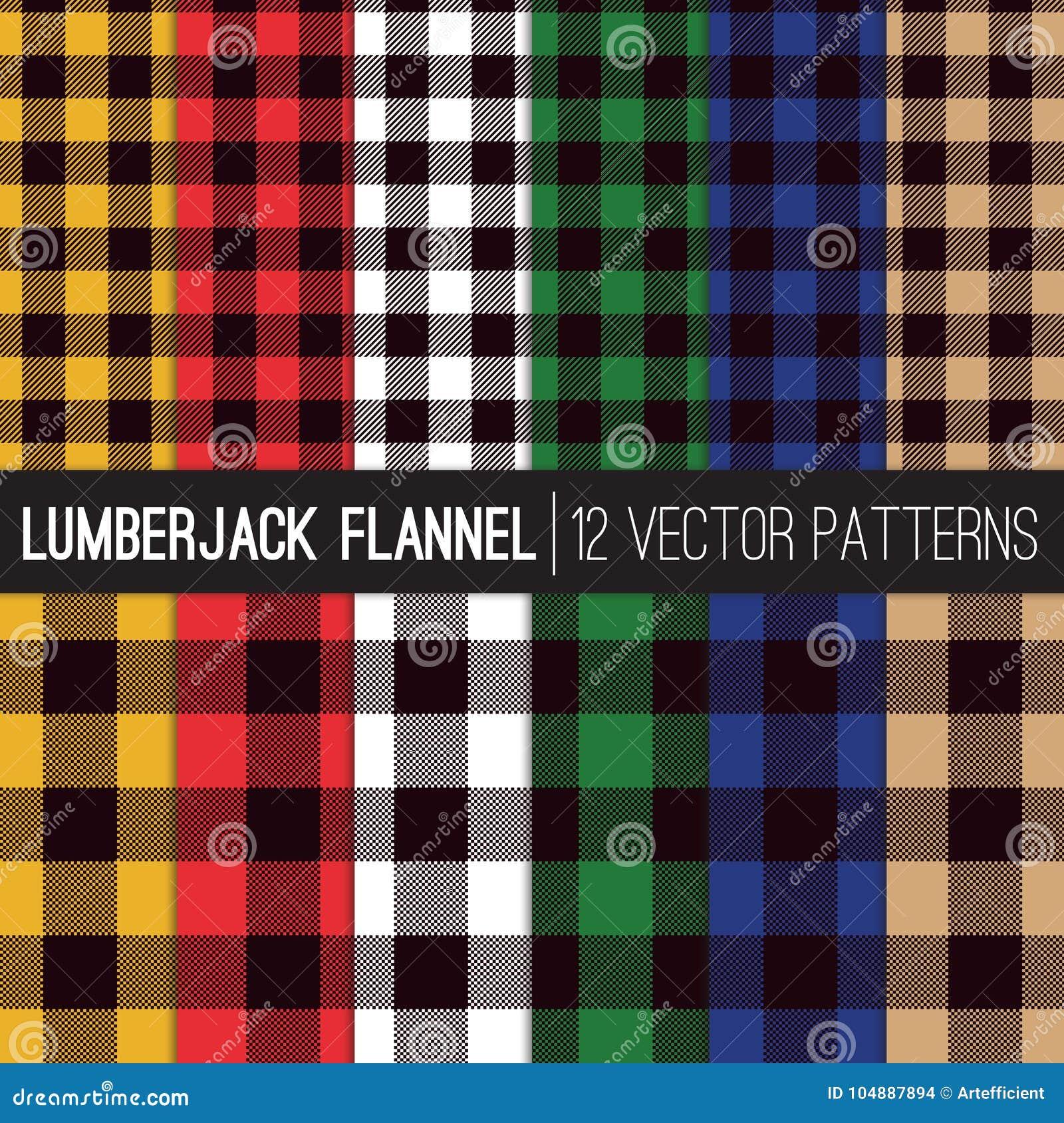 De veelkleurige Vectorpatronen van Houthakkersflannel shirt plaid