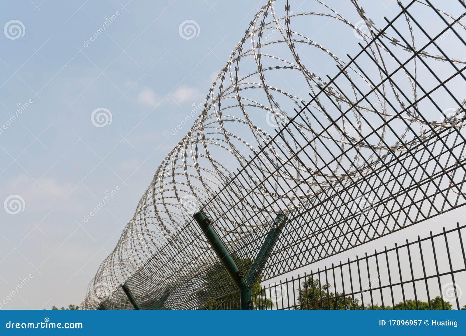 De veiligheid van het prikkeldraad van het scheermes stock afbeelding afbeelding 17096957 - Het upgraden van m ...