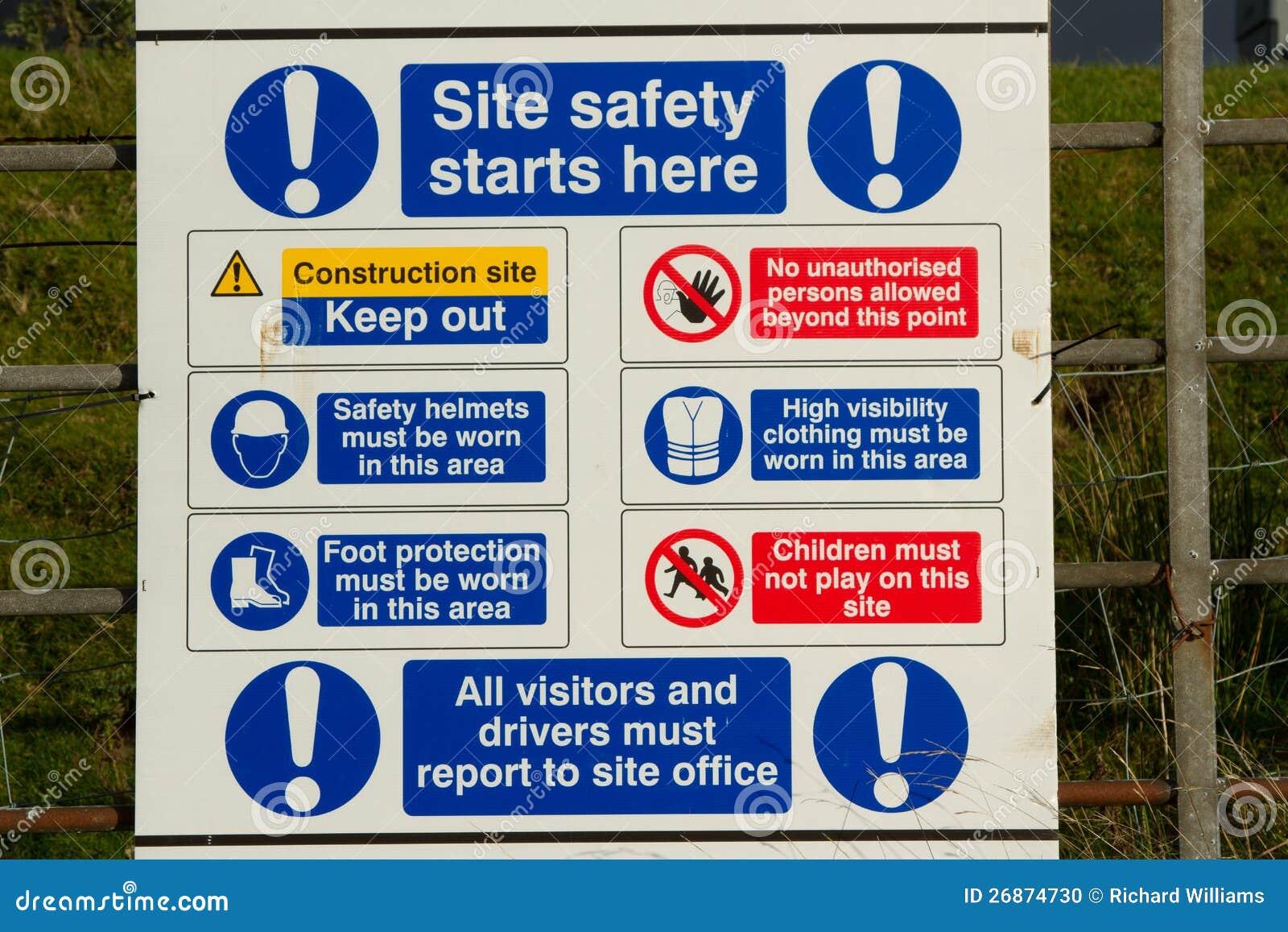 De veiligheidsteken van de plaats.