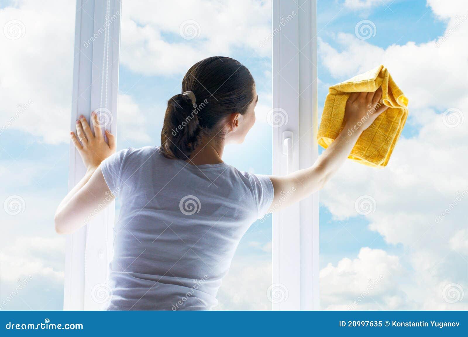 De vensters van de was