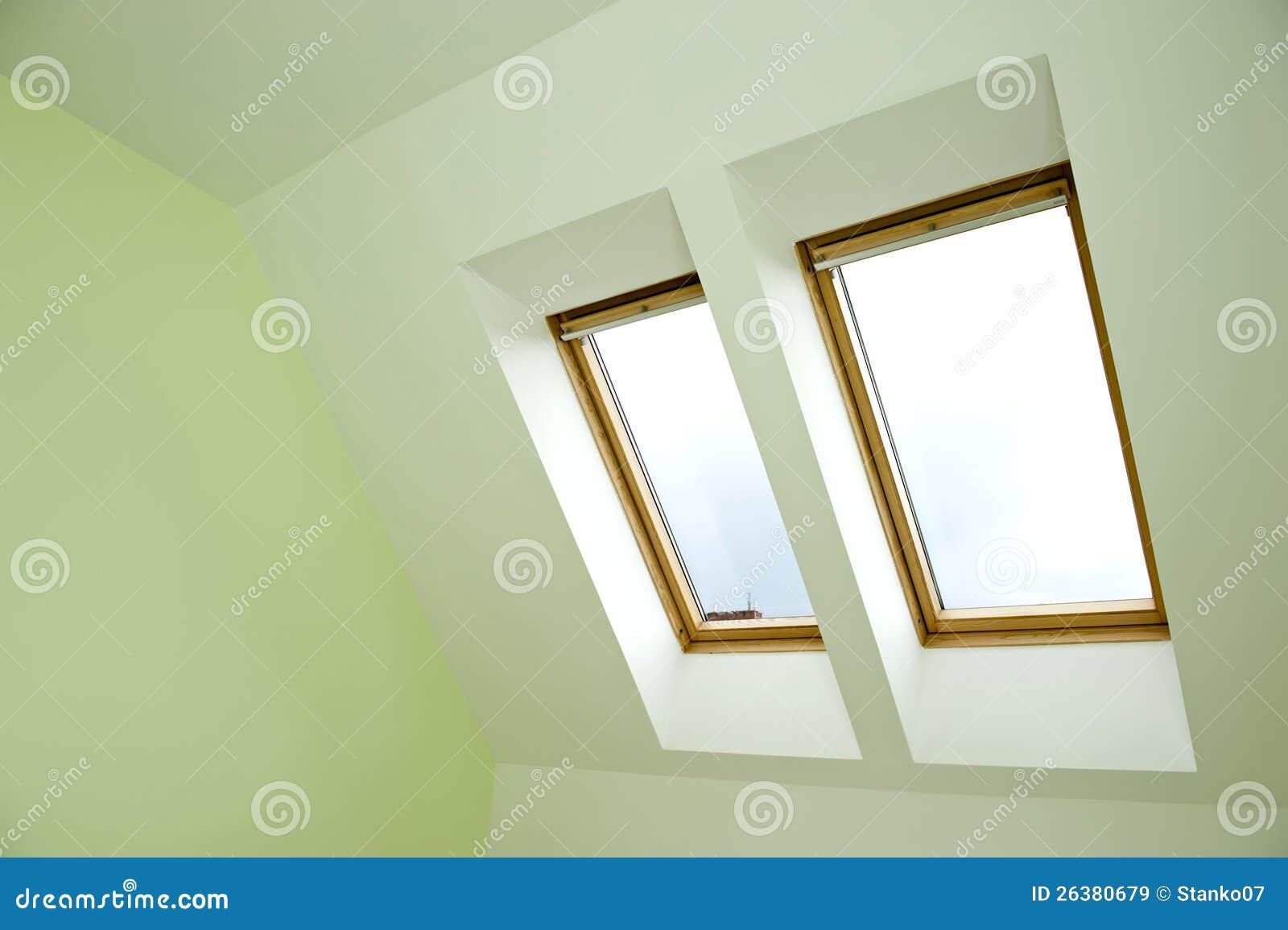 De vensters van het dak