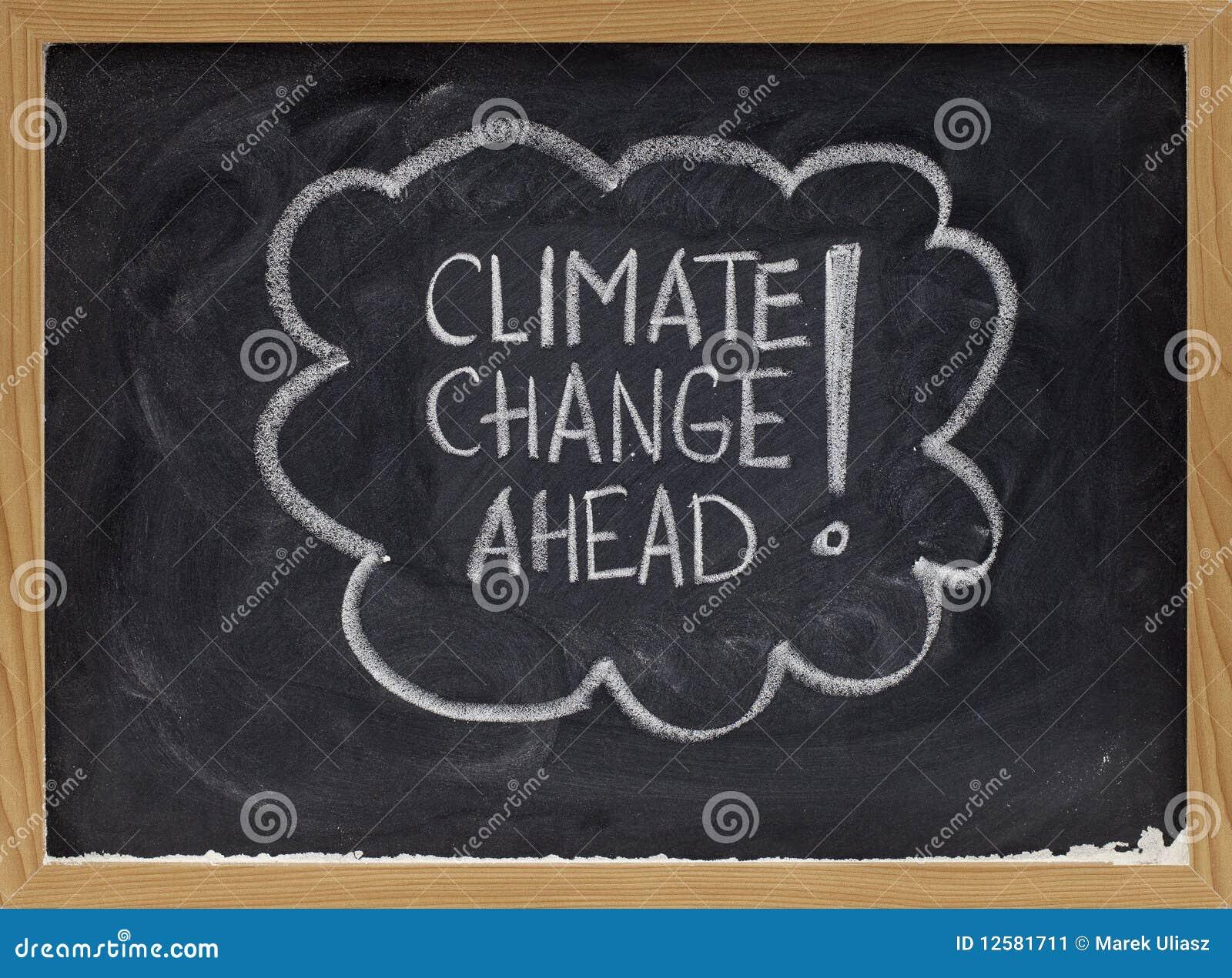 De verandering van het klimaat vooruit