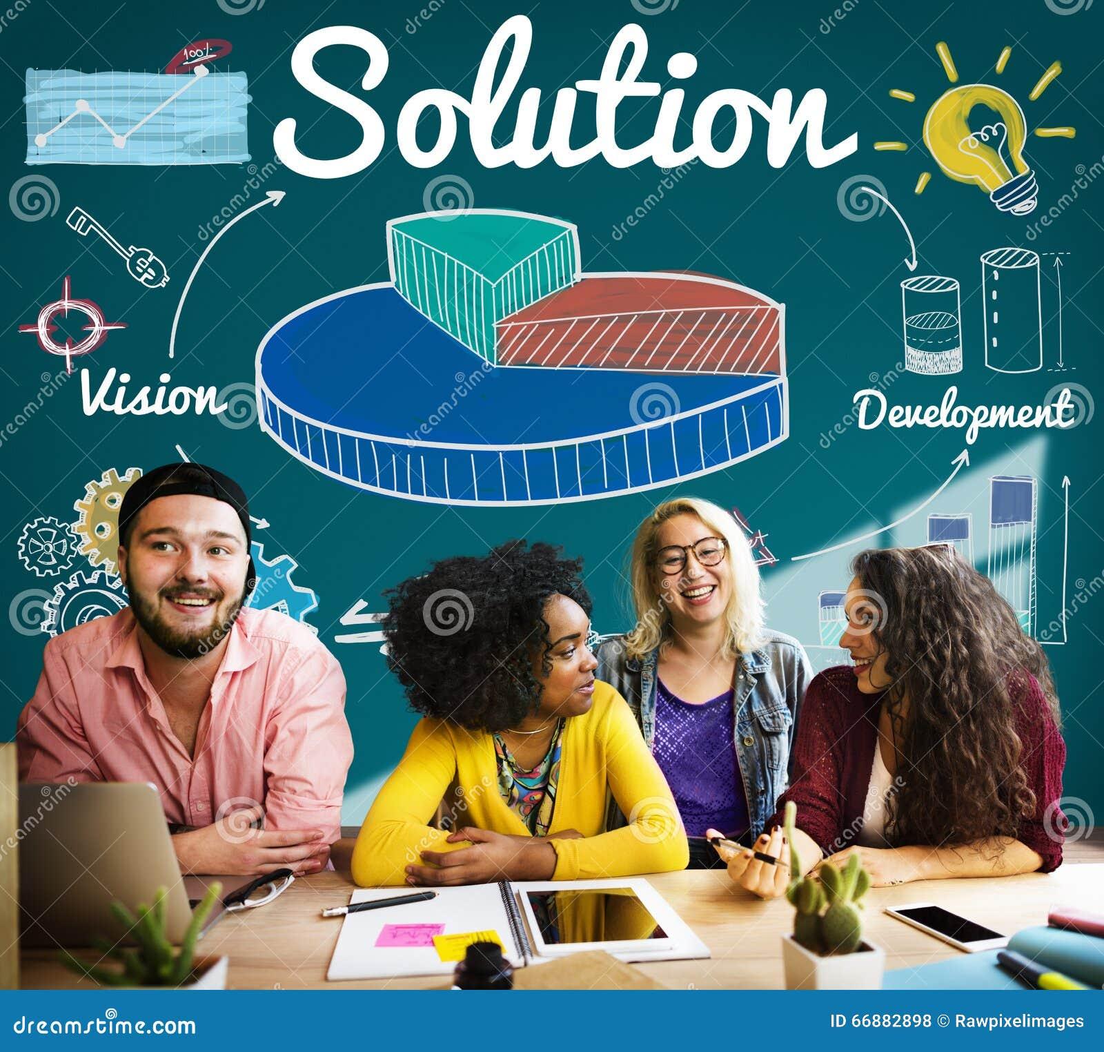 De Verbetering van de de Ideeënontwikkeling van de Cirkeldiagramoplossing Concept