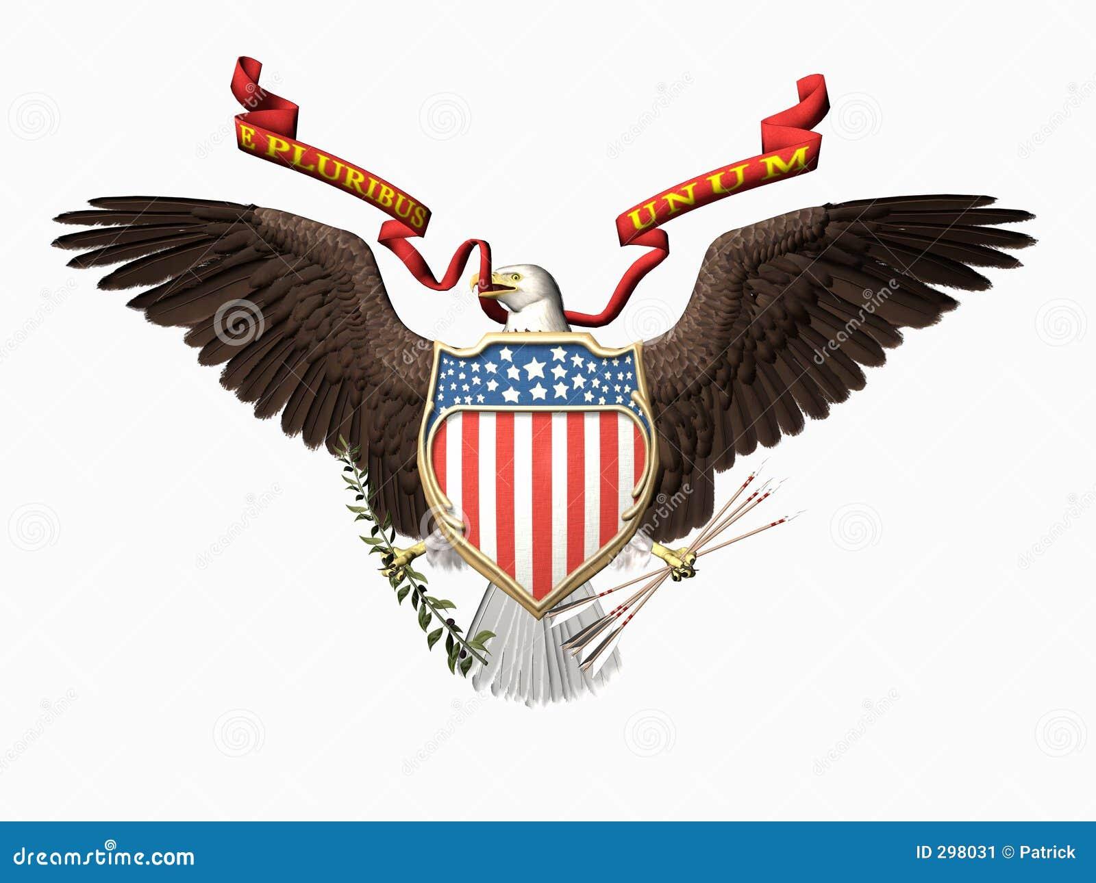 De verbinding van Verenigde Staten, pluribusunum van E.