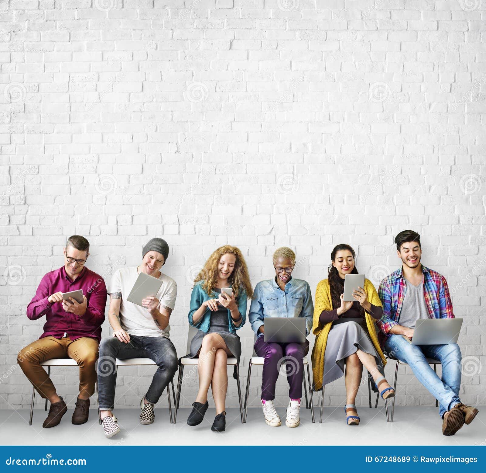 De Verbindings Globaal Communicatie van diversiteitsvrienden Concept