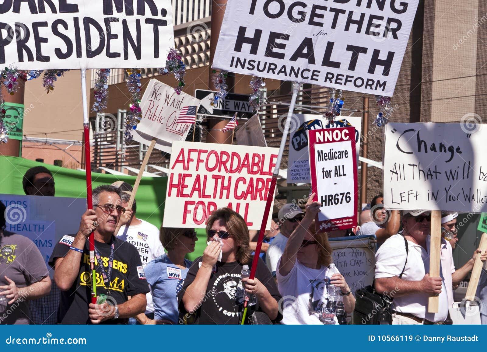 De verdedigers van de Gezondheidszorg van Obama
