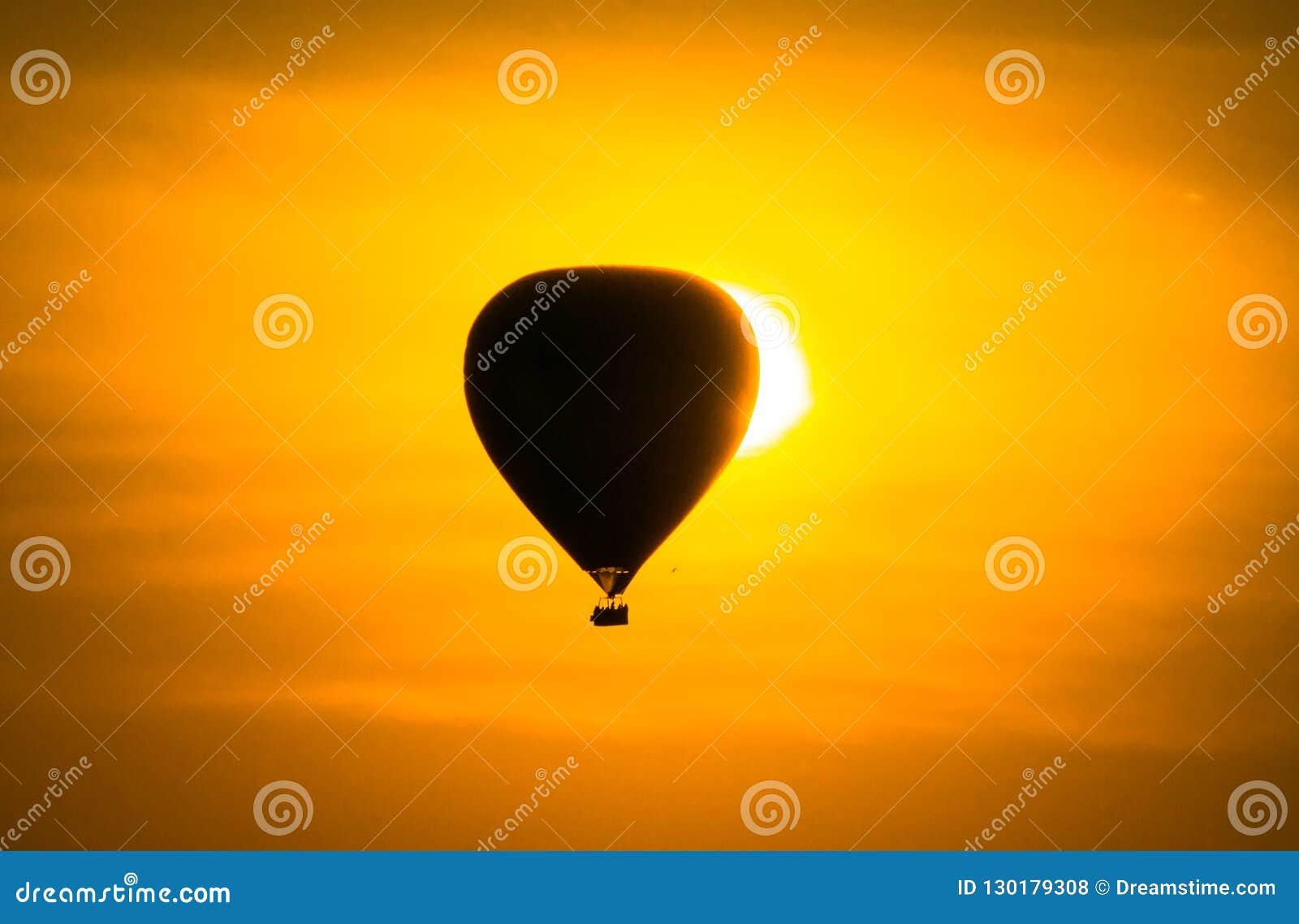 De verduistering van de ballonzonsopgang