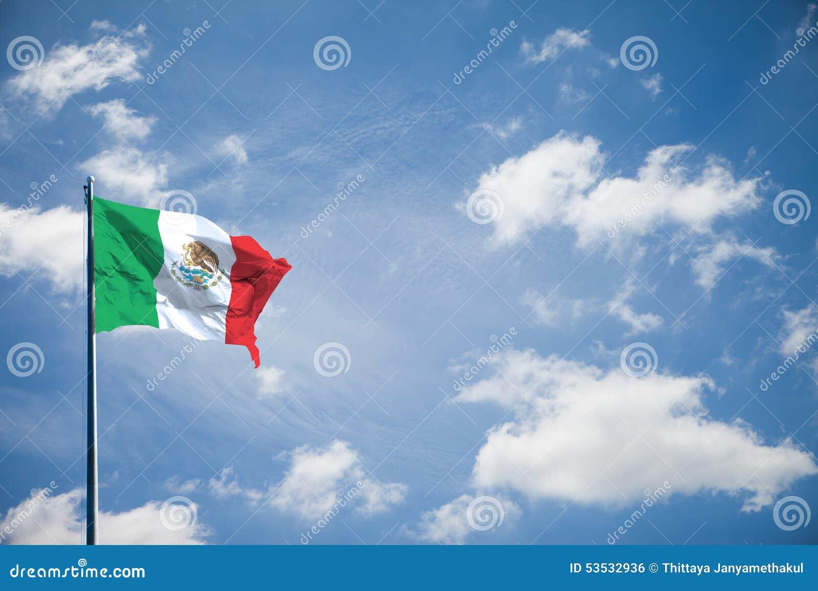 De verenigde Mexicaanse vlag van Staten of van de natie van Estados Unidos Mexicanos