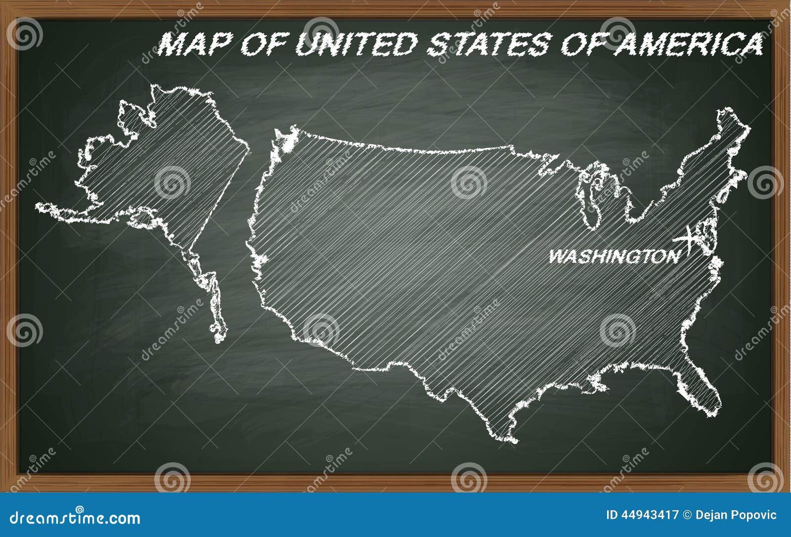 De Verenigde Staten van Amerika op bord