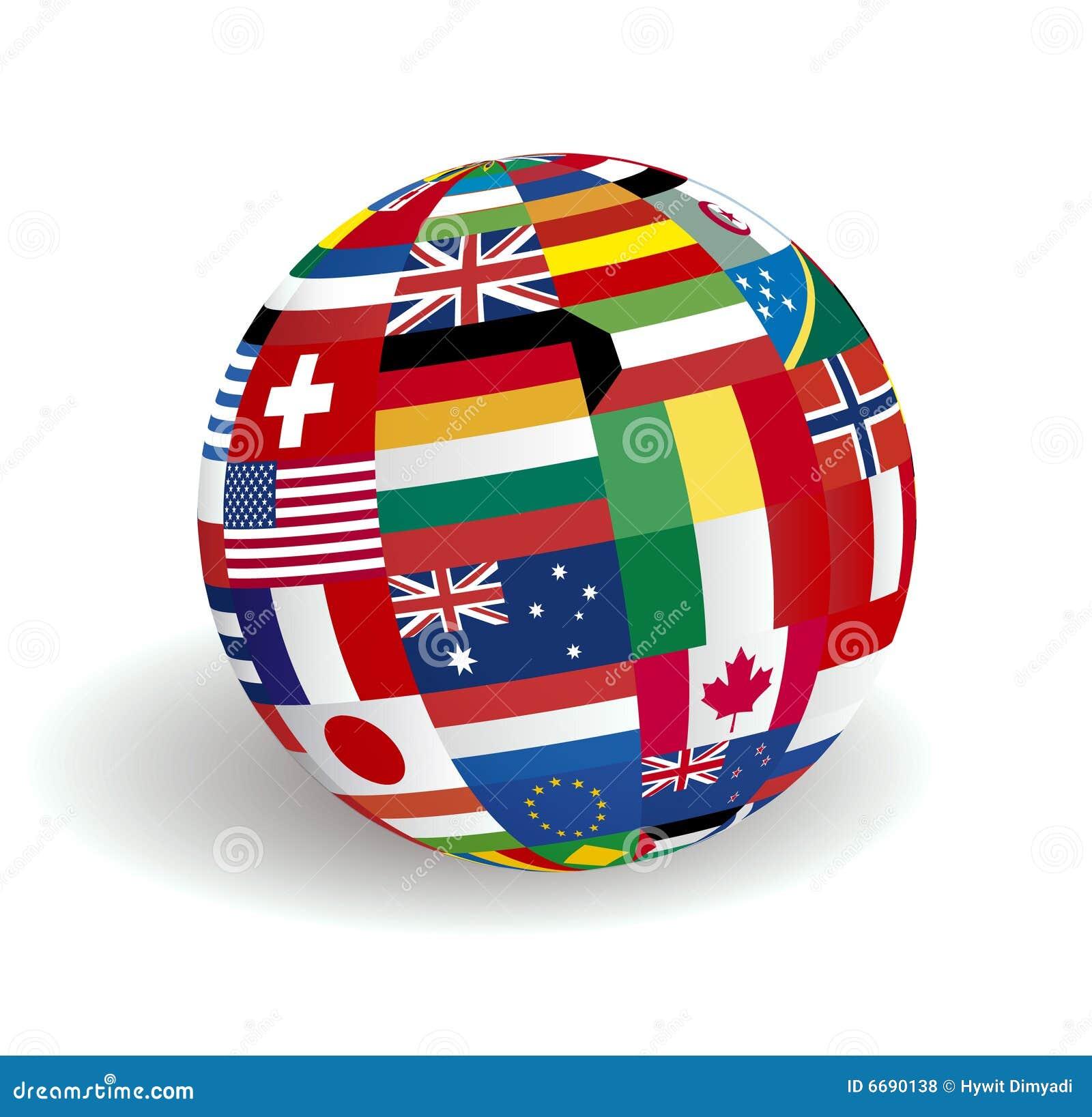 De verenigde Vlaggen van de Wereld