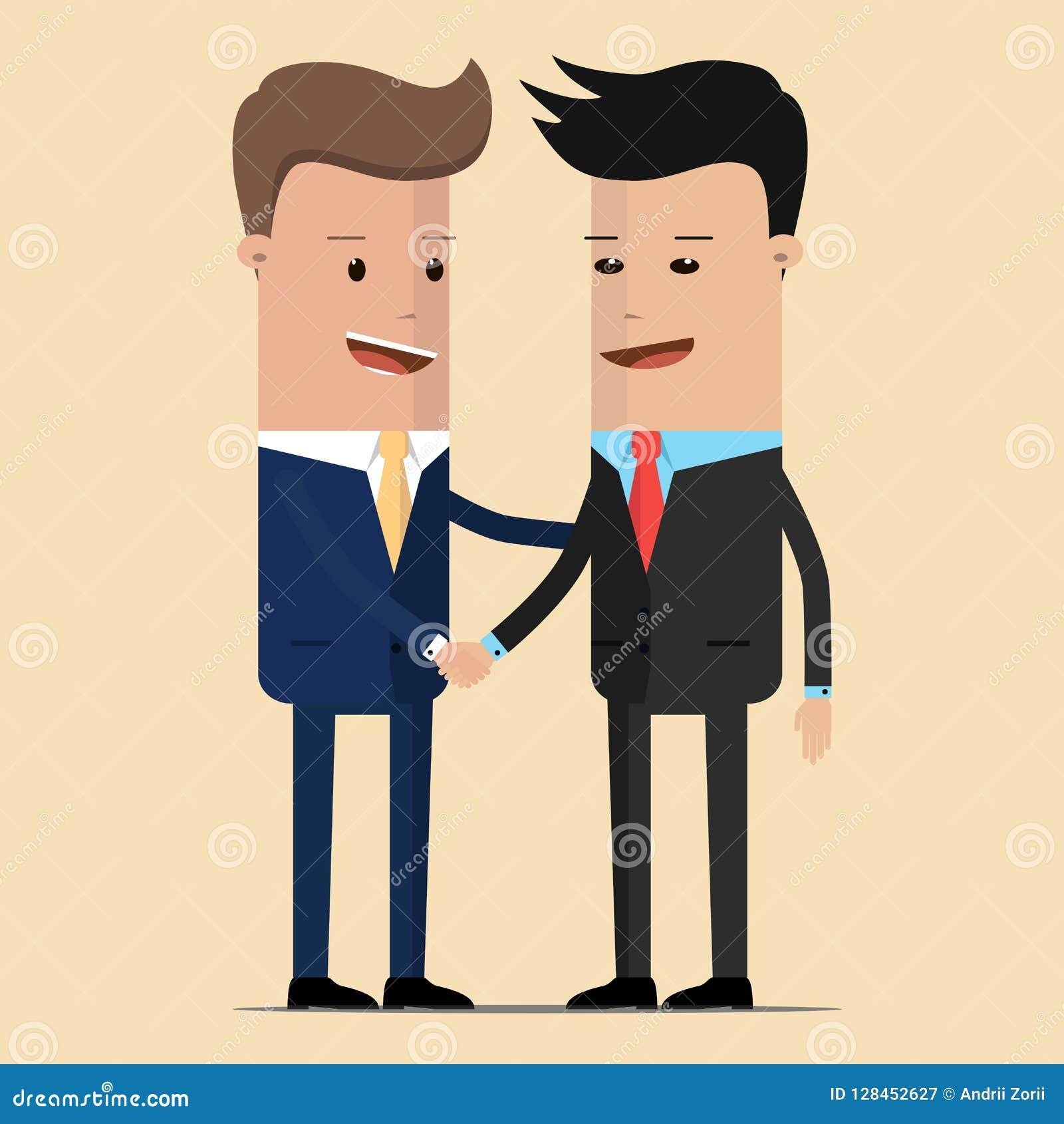 De vergadering van twee zakenlieden en bedrijfshanddruk vergadering van de twee politici, diplomaten, partners of de vrienden die
